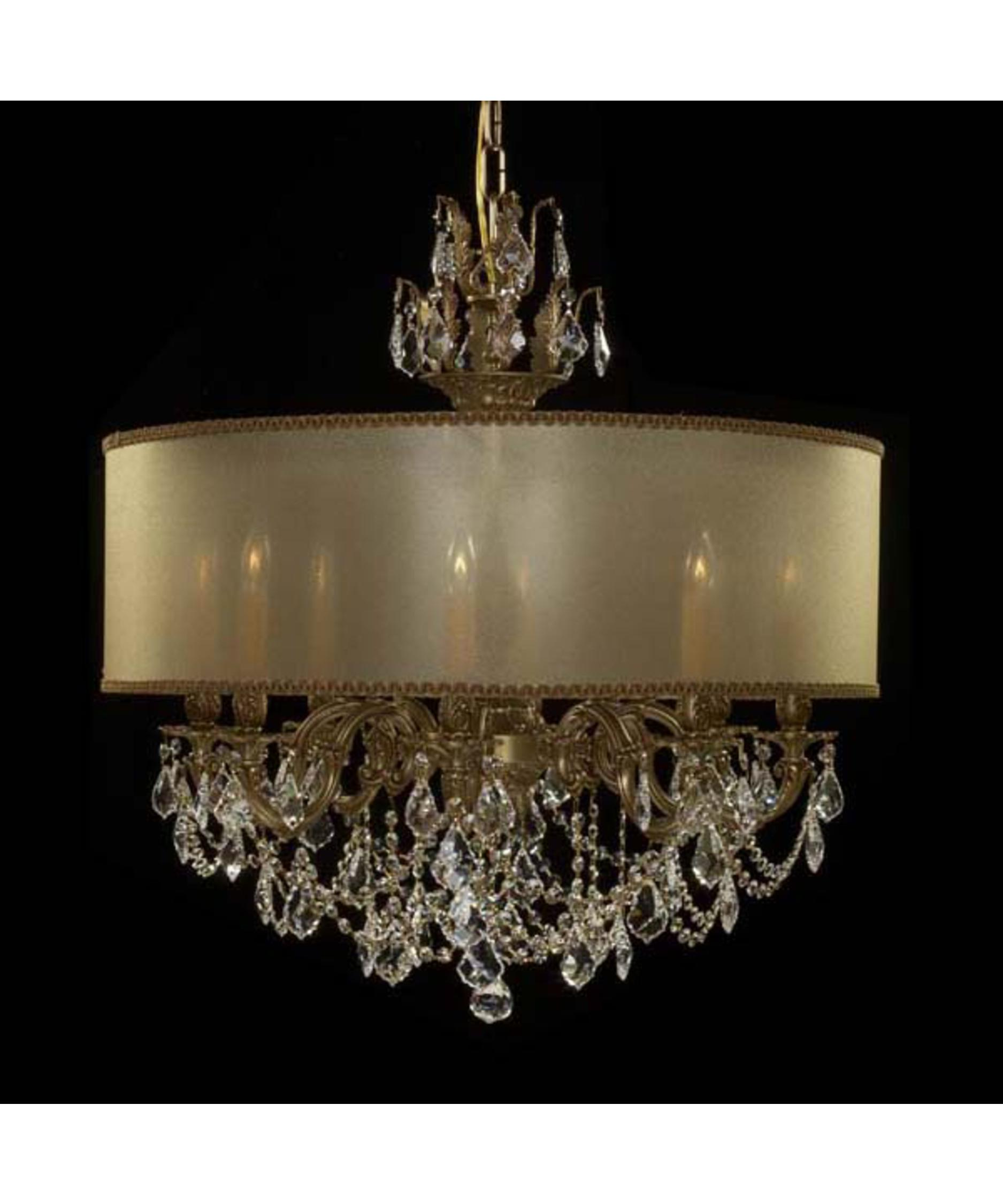 American Brass and Crystal Llydia 28 Inch Wide 8 Light Chandelier – American Brass and Crystal Chandeliers