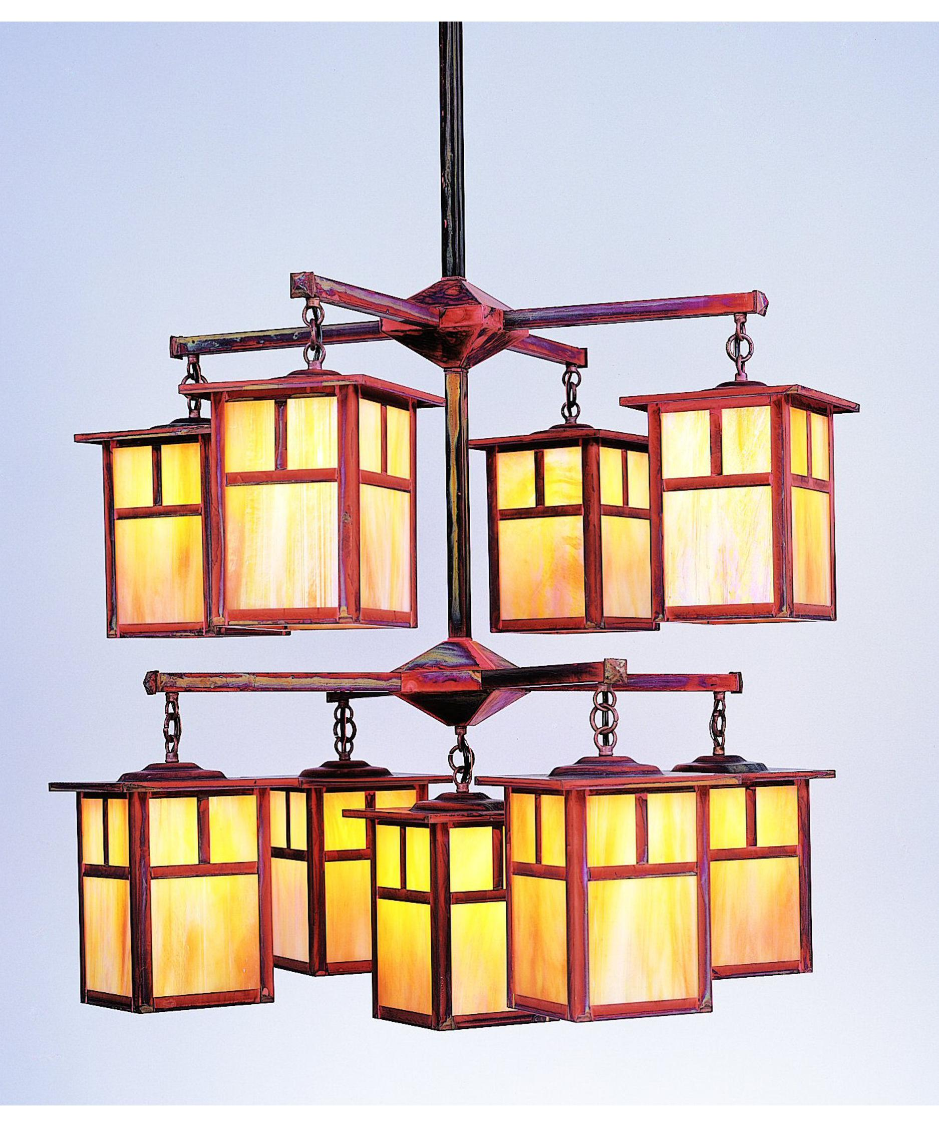 shown in raw copper finish and gold white iridescent glass and t bar accent arroyo craftsman lighting