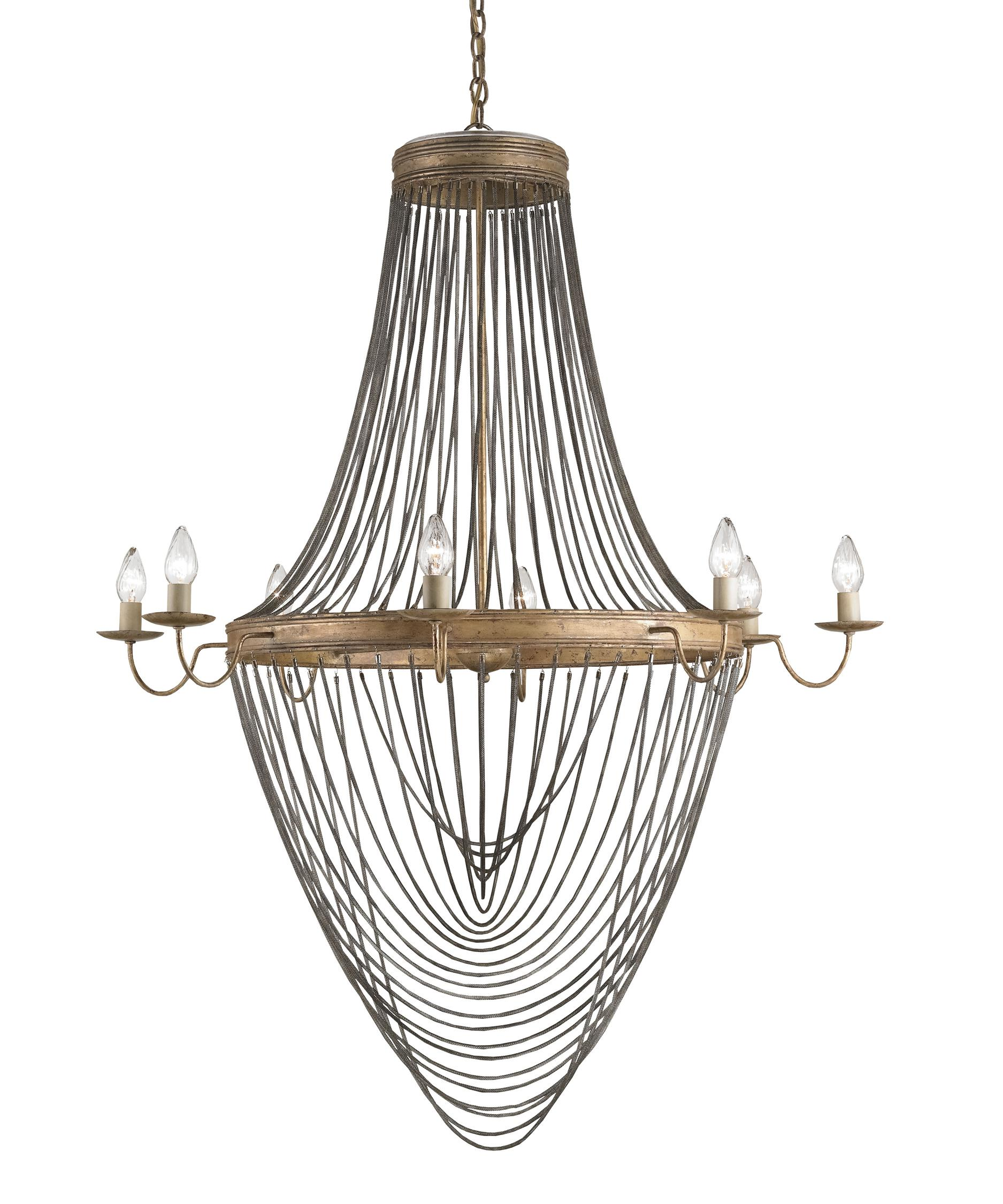 Currey and Company Lucien 46 Inch Wide 8 Light Chandelier – Currey and Company Lighting Chandeliers