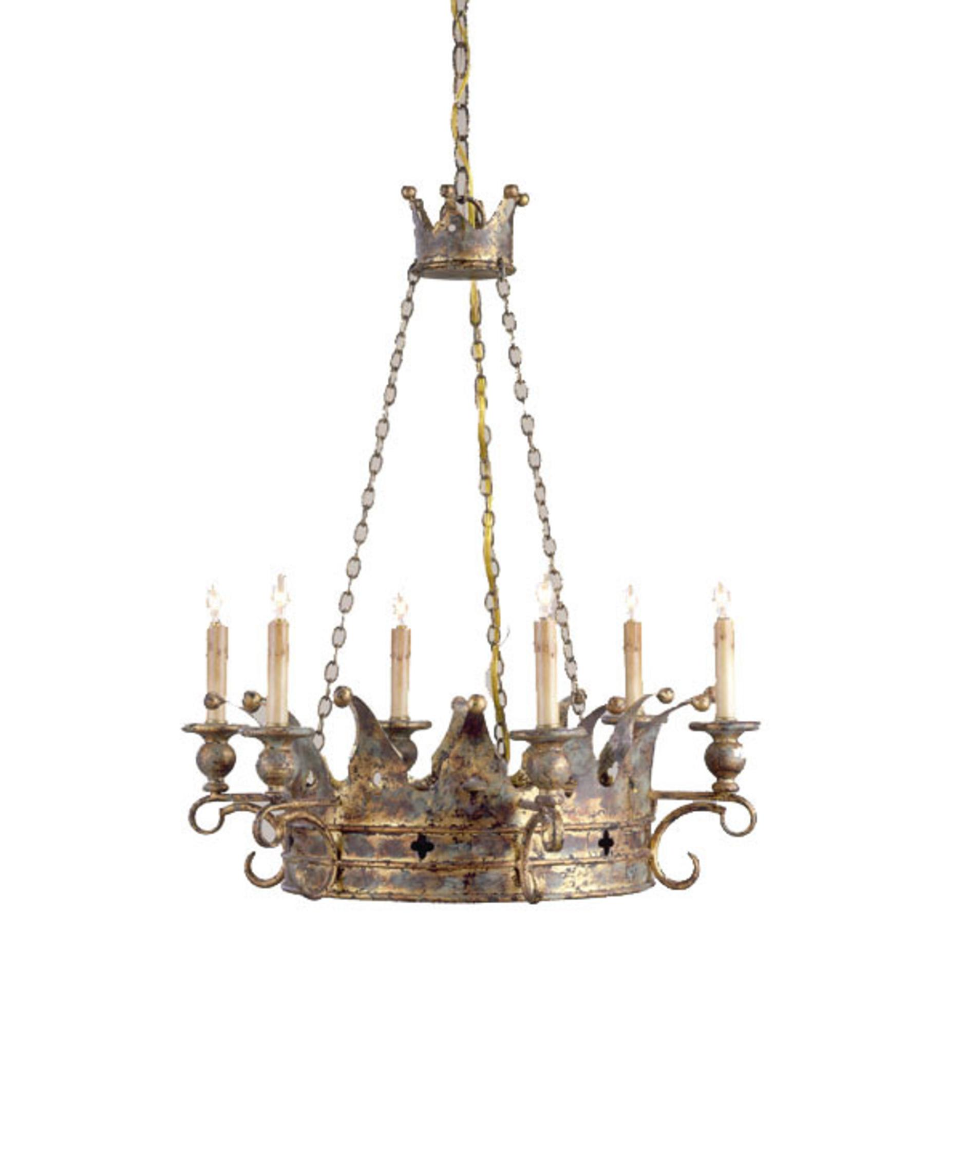 Currey And Company Crown 24 Inch Chandelier Capitol
