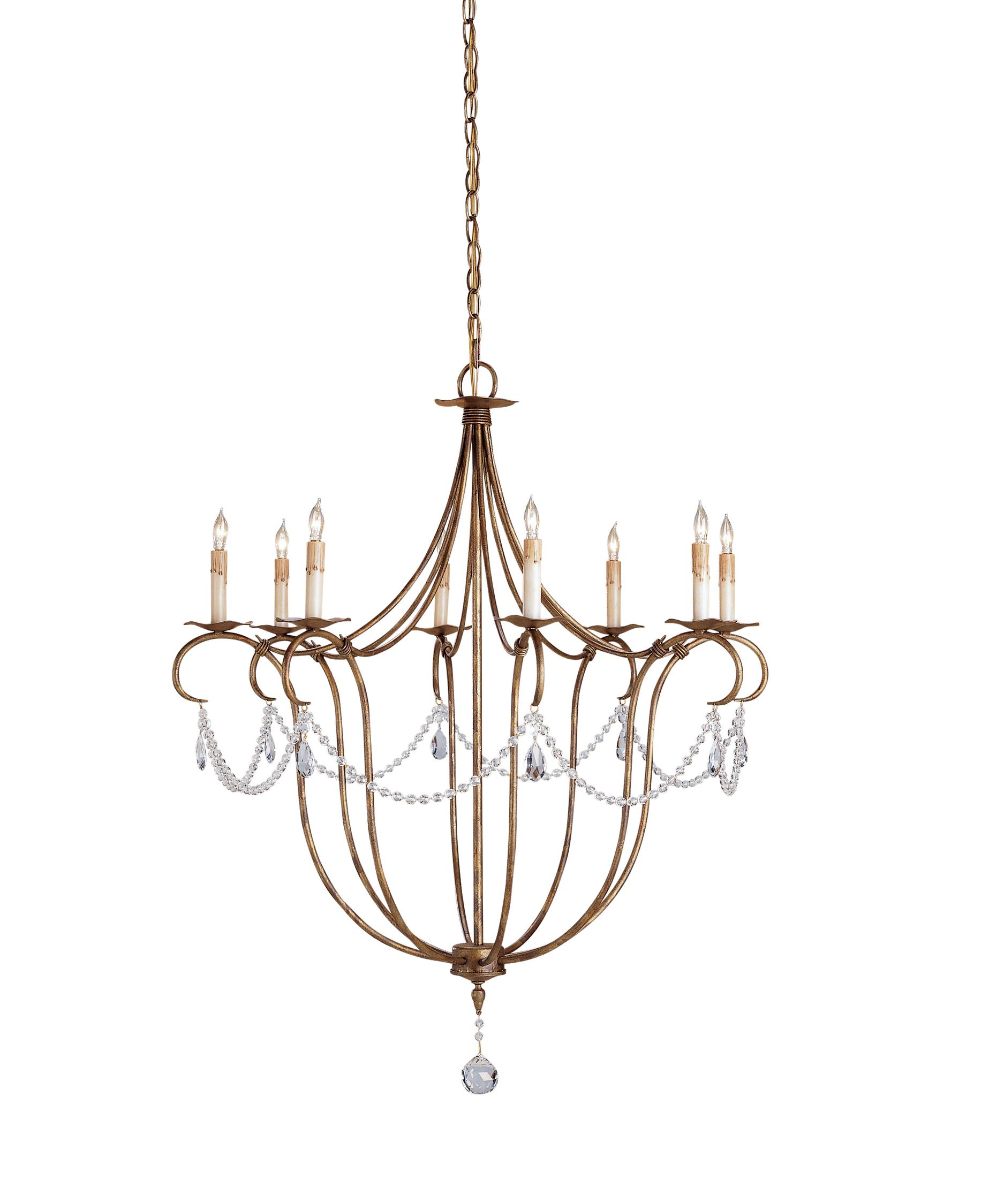 Currey And Company 9881 Crystal Lights 31 Inch Chandelier