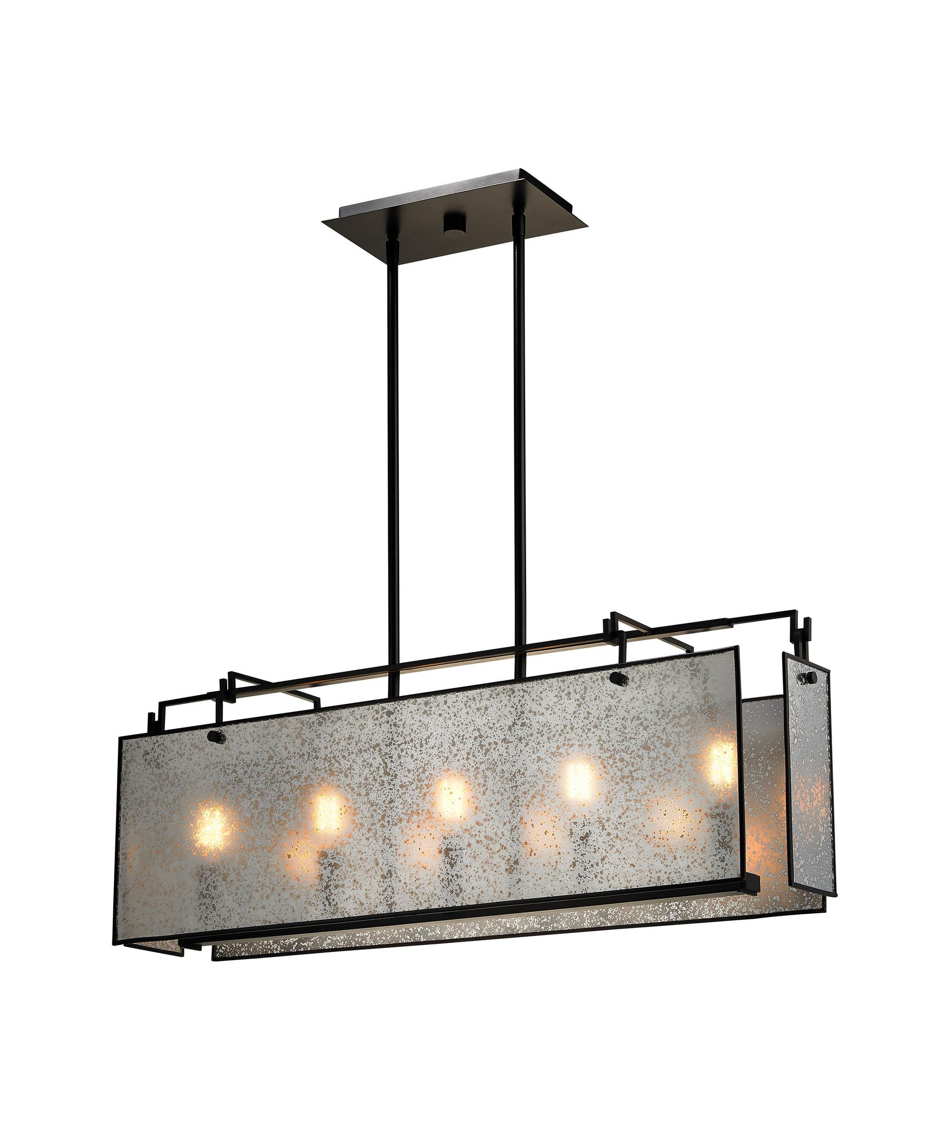 shown in oil rubbed bronze finish and mercury glasselk lighting 5 lindhurst 33 inch wide island light capitol tribeca pendant light from elk