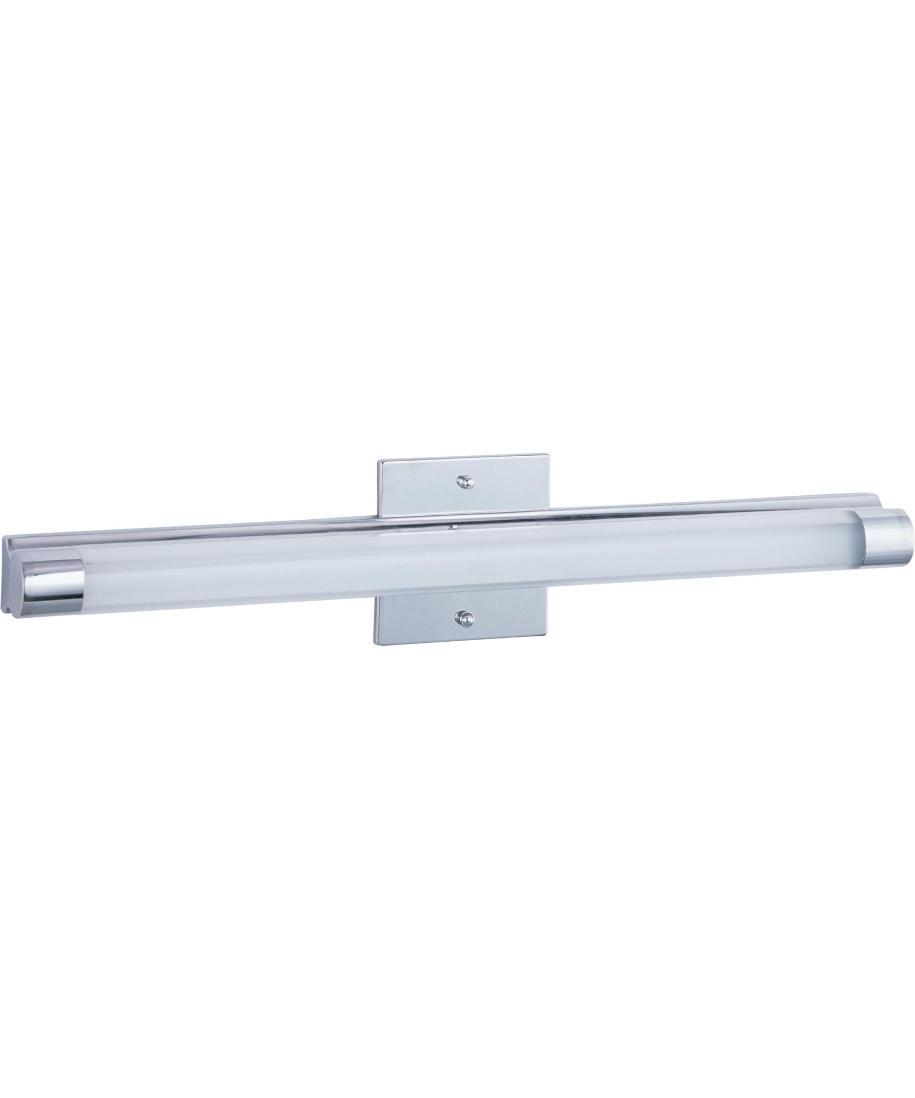 shown in polished chrome finish and clear white glass bathroom vanity lighting 1
