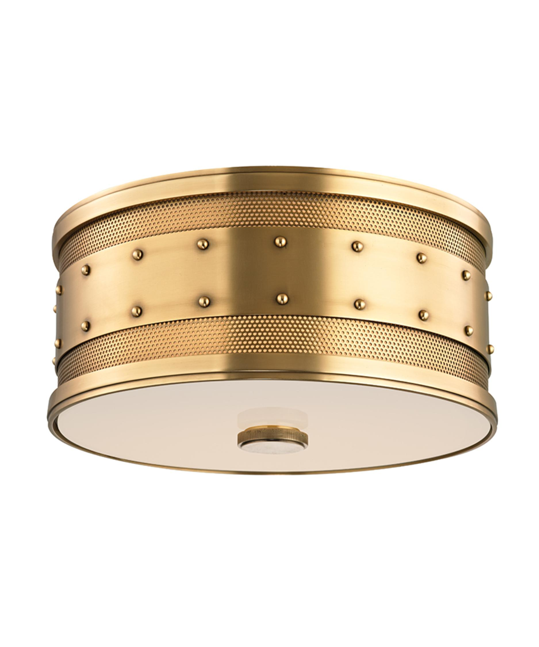 hudson valley 2202 gaines 12 inch wide flush mount | capitol