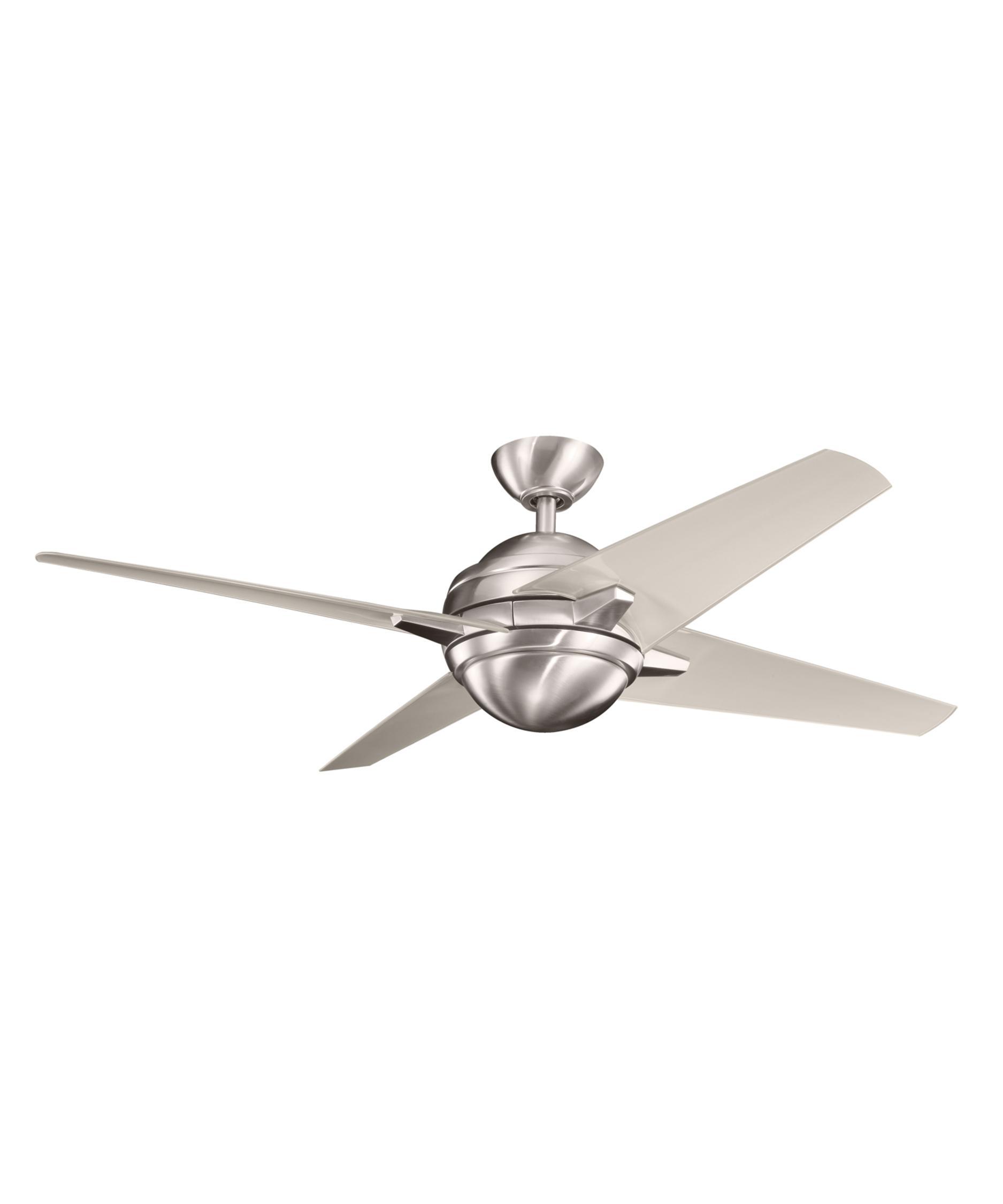 kichler 300133 rivetta 52 inch 4 blade ceiling fan | capitol