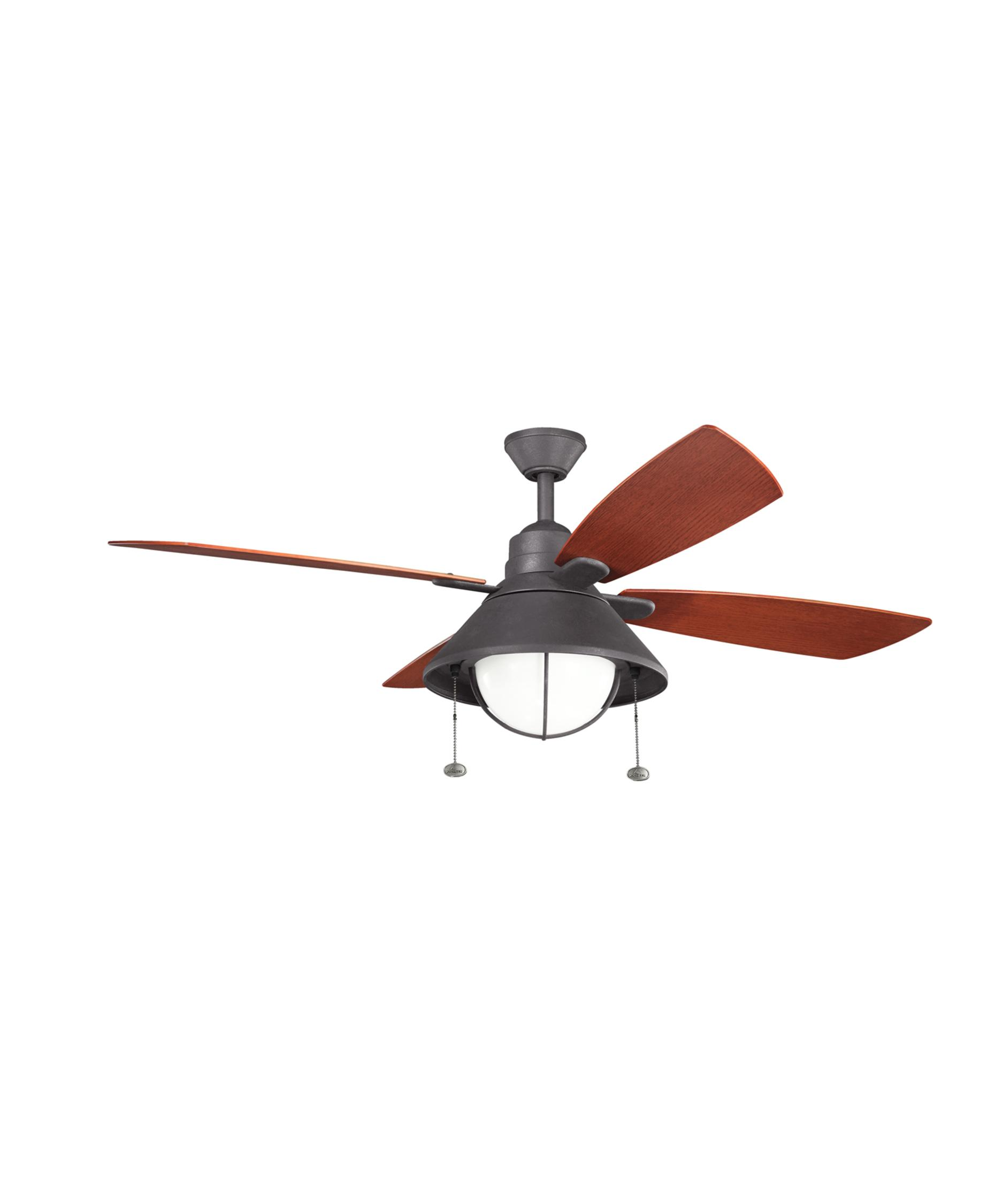 kichler seaside 54 inch 4 blade ceiling fan capitol lighting - Kichler Fans