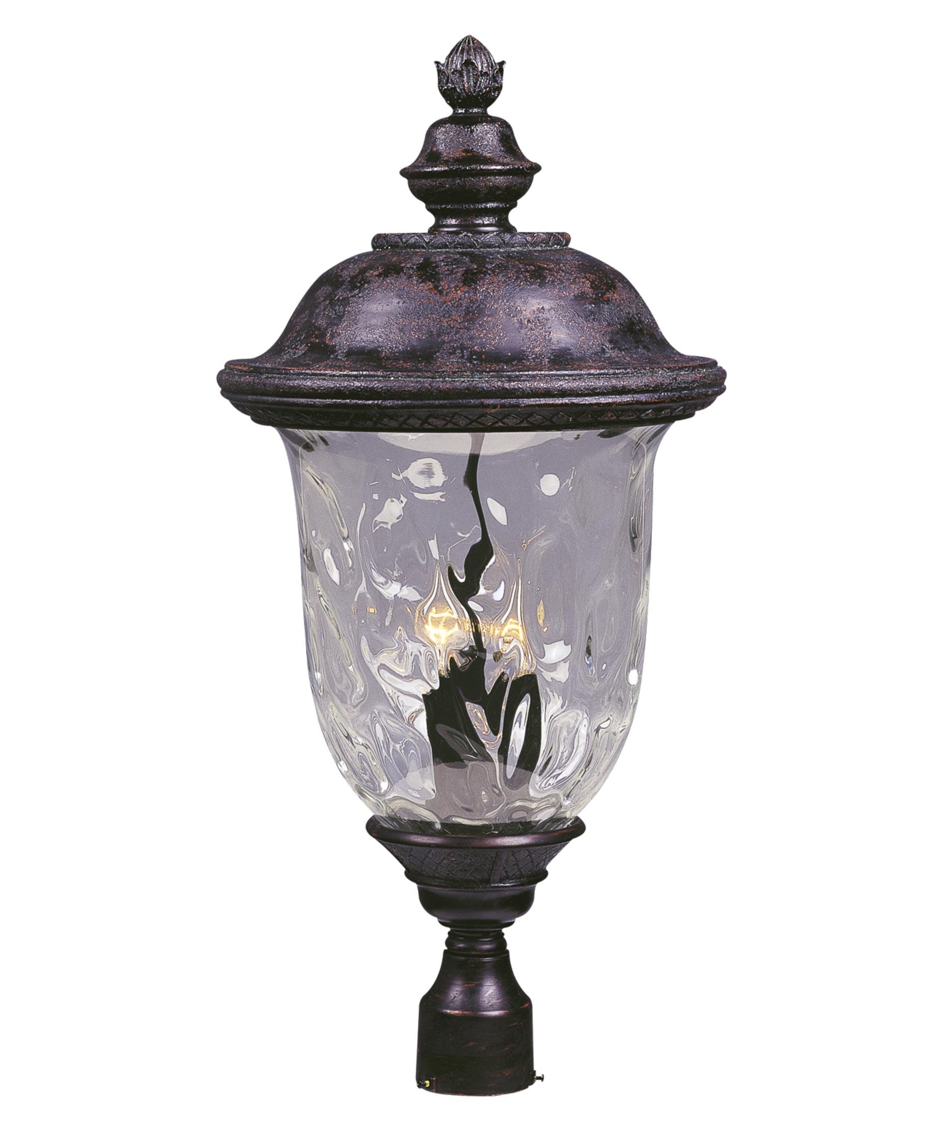 Superior Maxim Lighting 3421 Carriage House DC 14 Inch Wide 3 Light Outdoor Post Lamp  | Capitol Lighting 1 800lighting.com