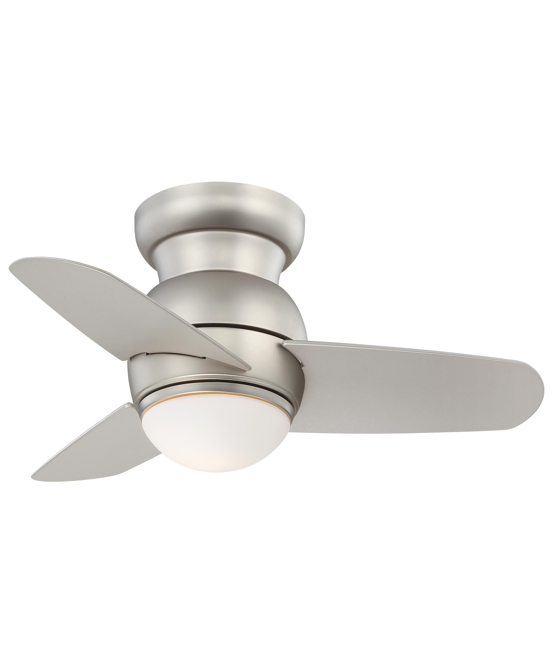Flush Mount Ceiling Fans, Hugger Ceiling Fans, Low Profile Fans ...:Spacesaver 26 Inch 3 Blade Flush Mount Fan,Lighting