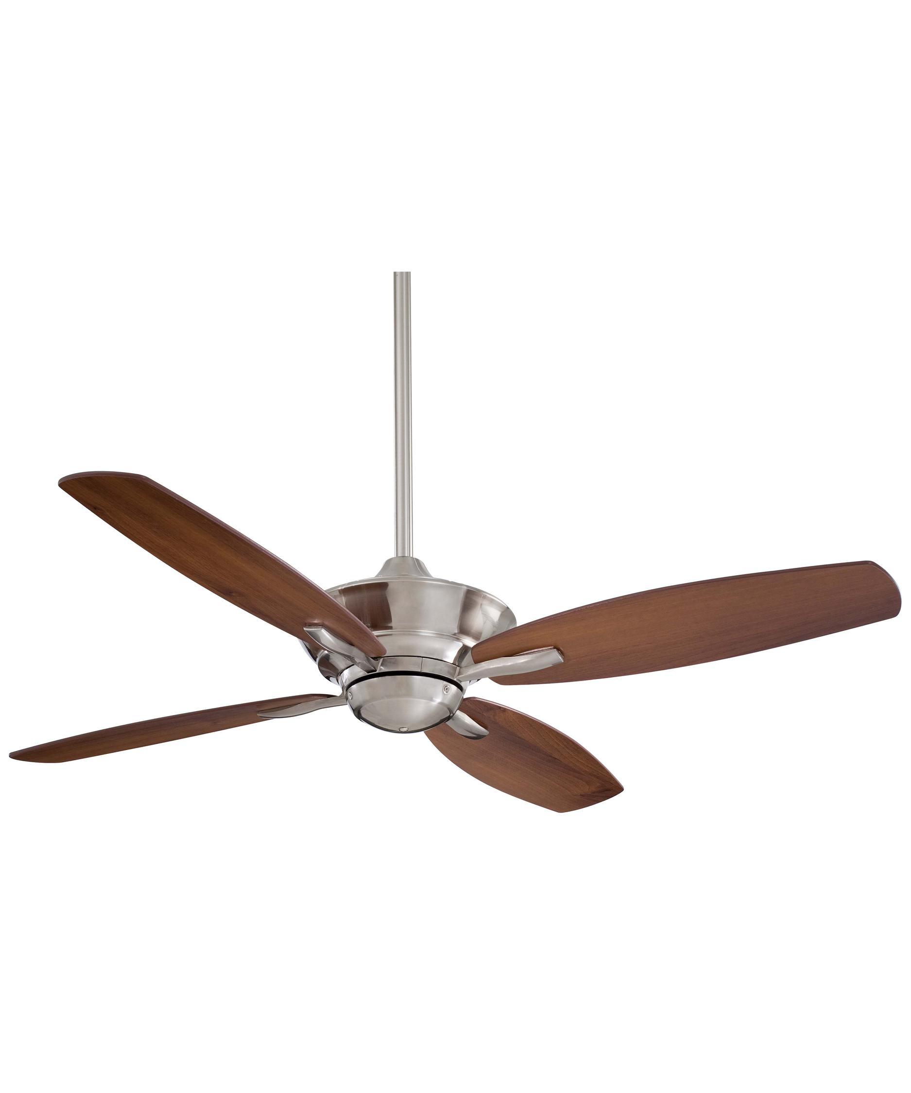 Shown in Brushed Nickel finish. Minka Aire F513 New Era 52 Inch 4 Blade Ceiling Fan   Capitol