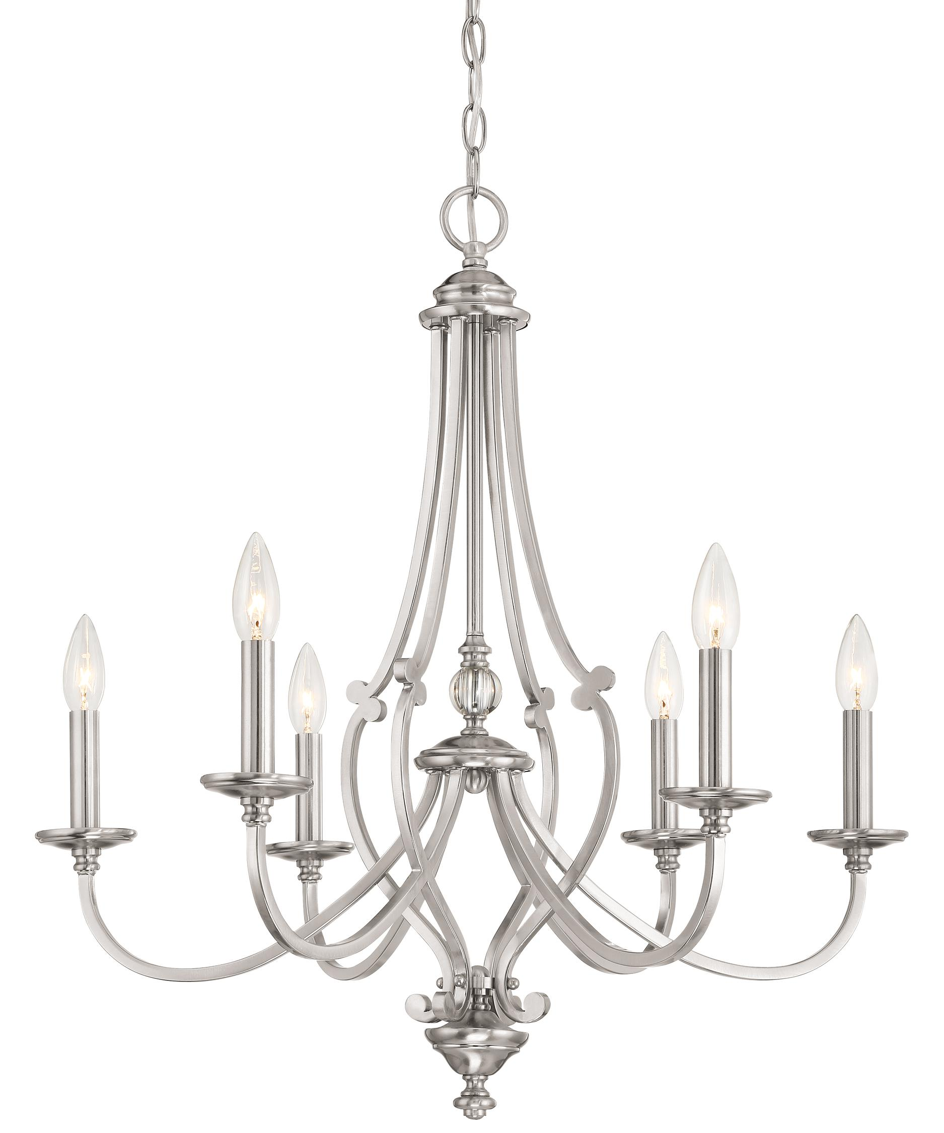 shown in brushed nickel finish and clear glass - Minka Lighting