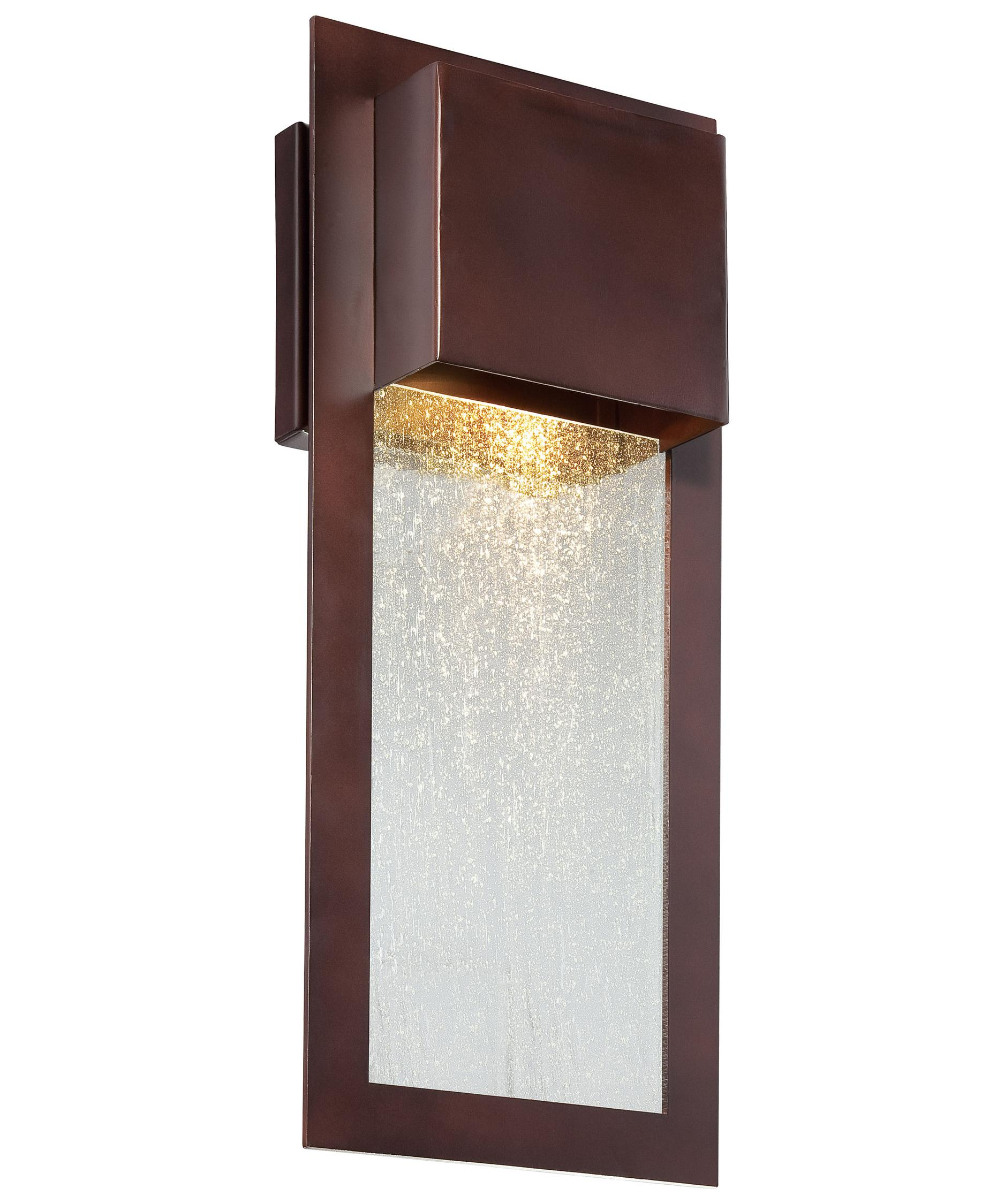 Shown In Alder Bronze Finish And Clear Seeded Glass