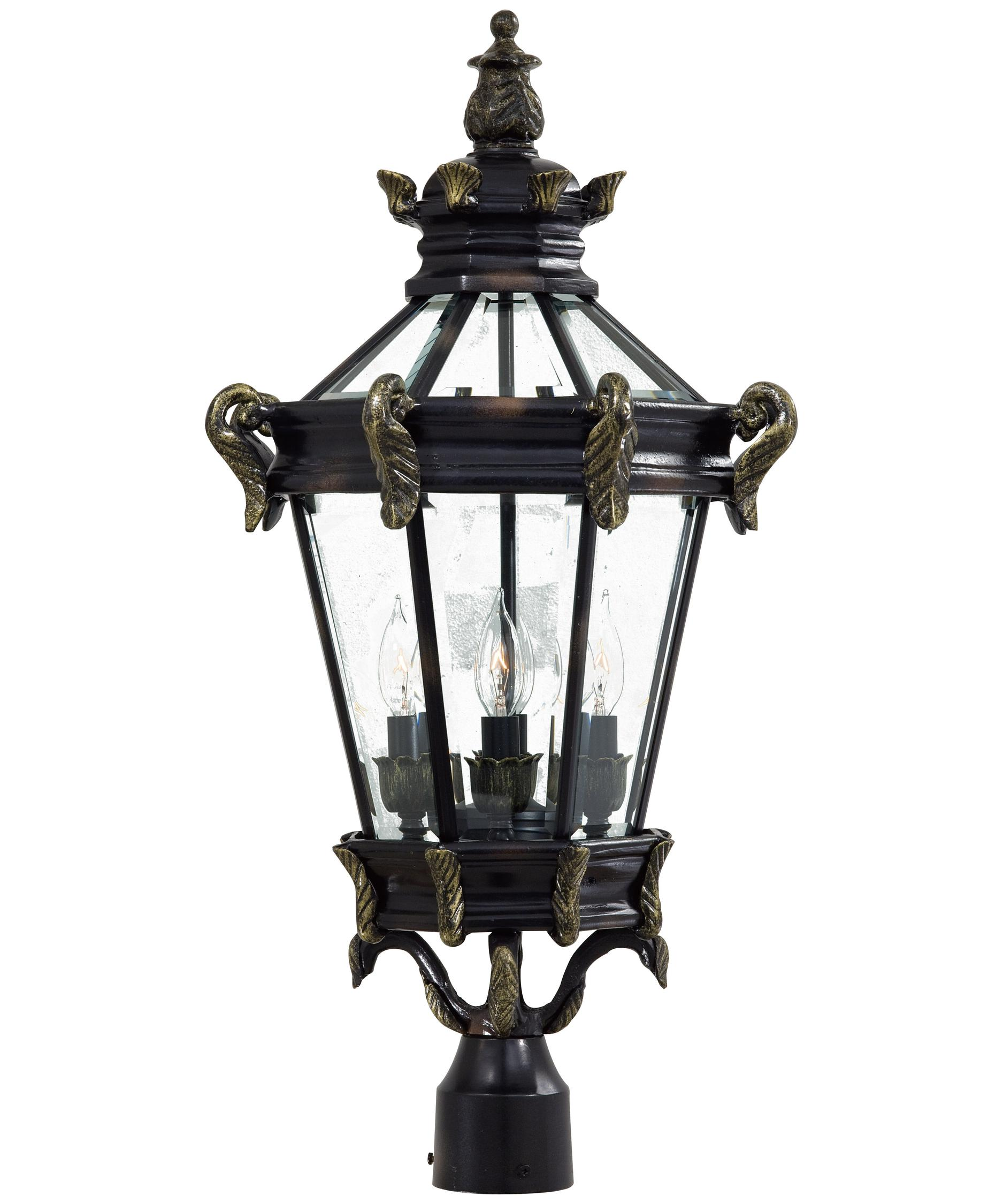 Shown In Heritage With Gold Finish And Clear Beveled Glass