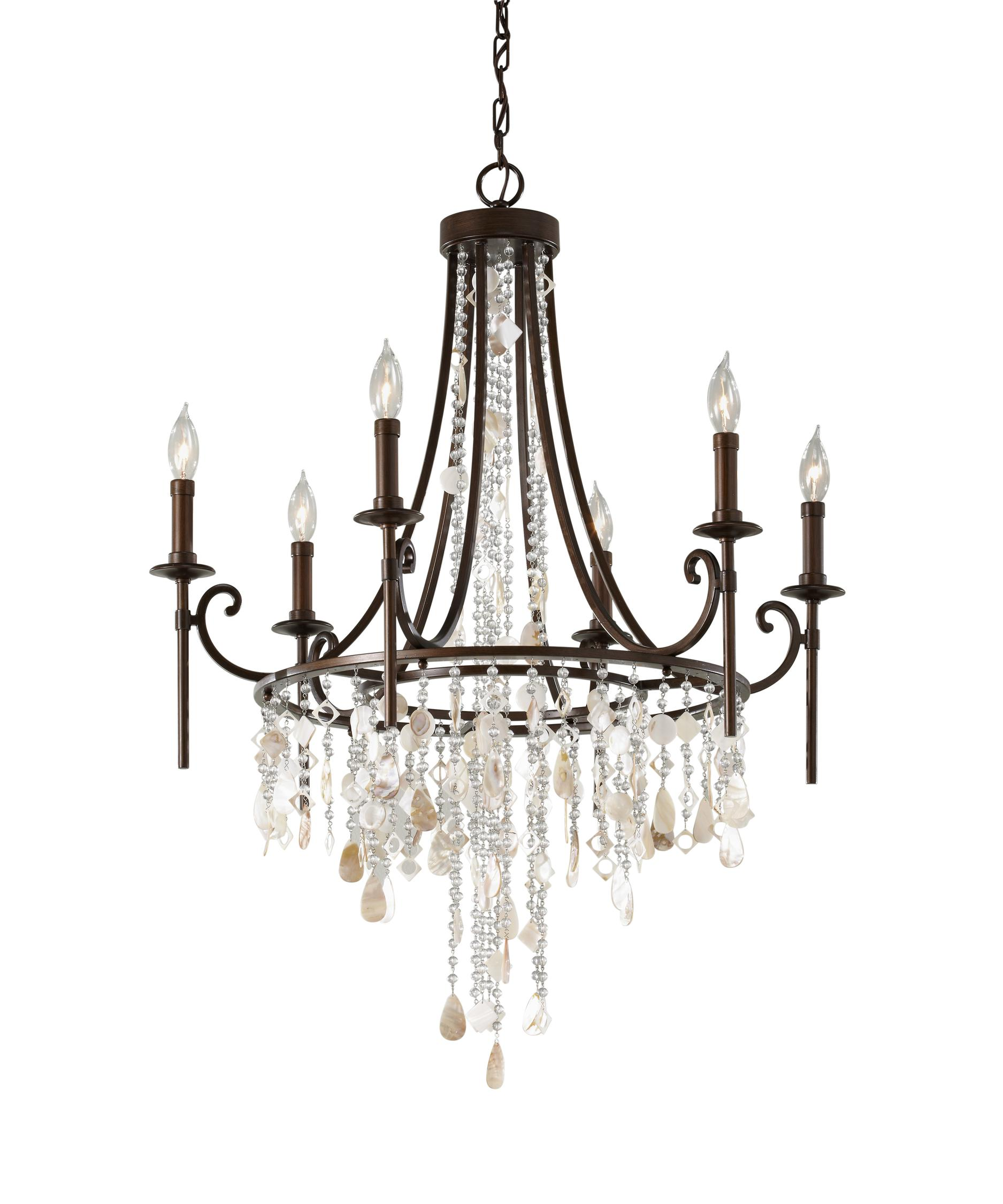 Murray Feiss Cascade 28 Inch Wide 6 Light Chandelier – Murray Feiss Chandeliers