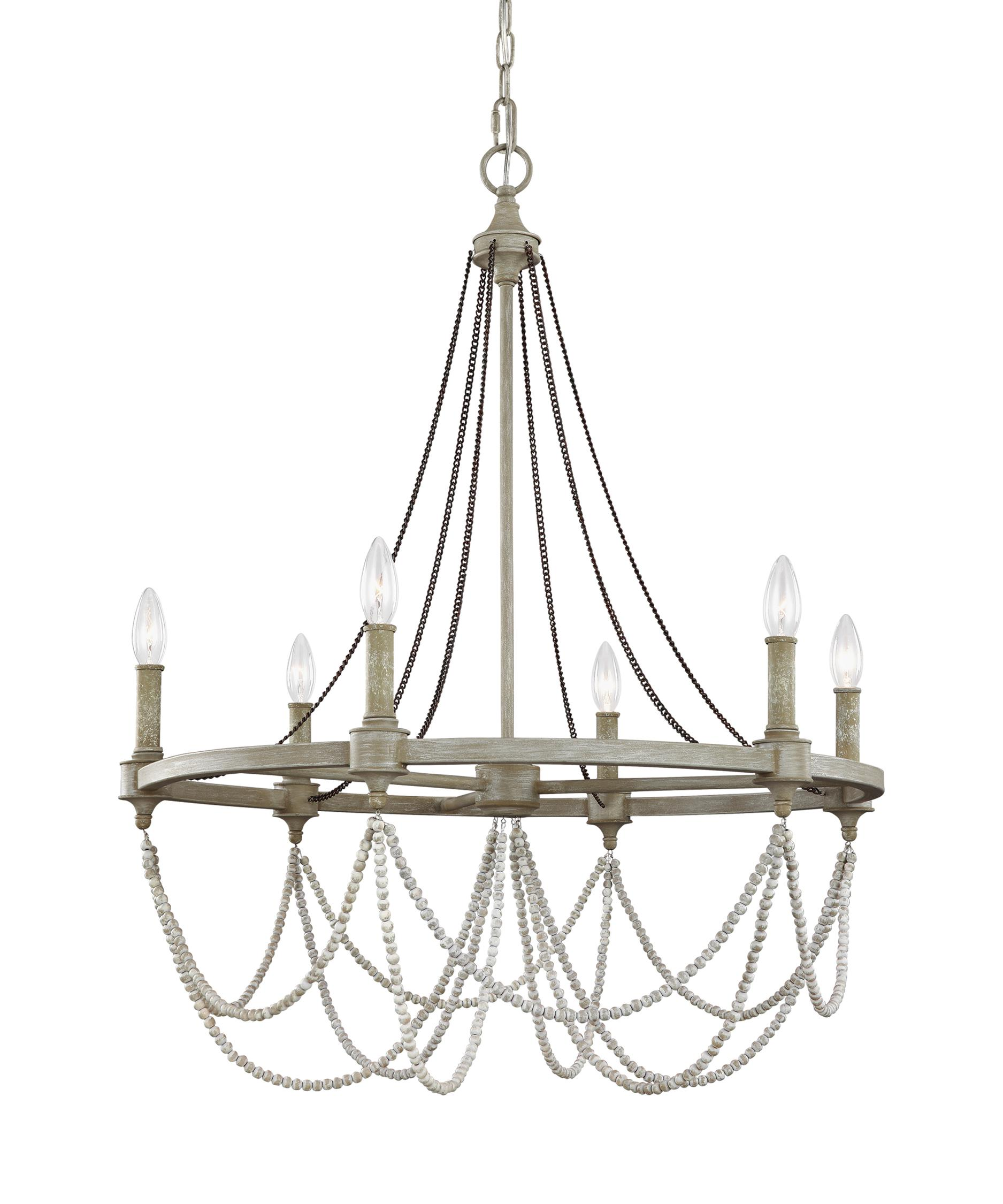 Murray Feiss Beverly 28 Inch Wide 6 Light Chandelier – Murray Feiss Chandeliers