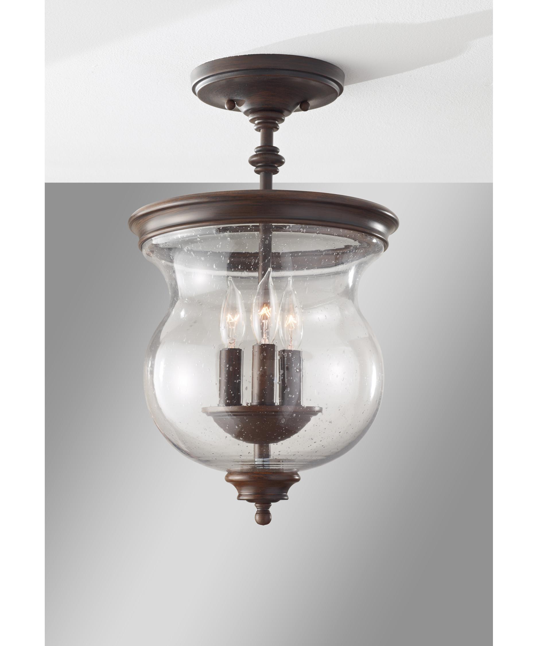 murray feiss sf309 pickering lane 10 inch wide semi flush mount capitol lighting - Feiss Lighting