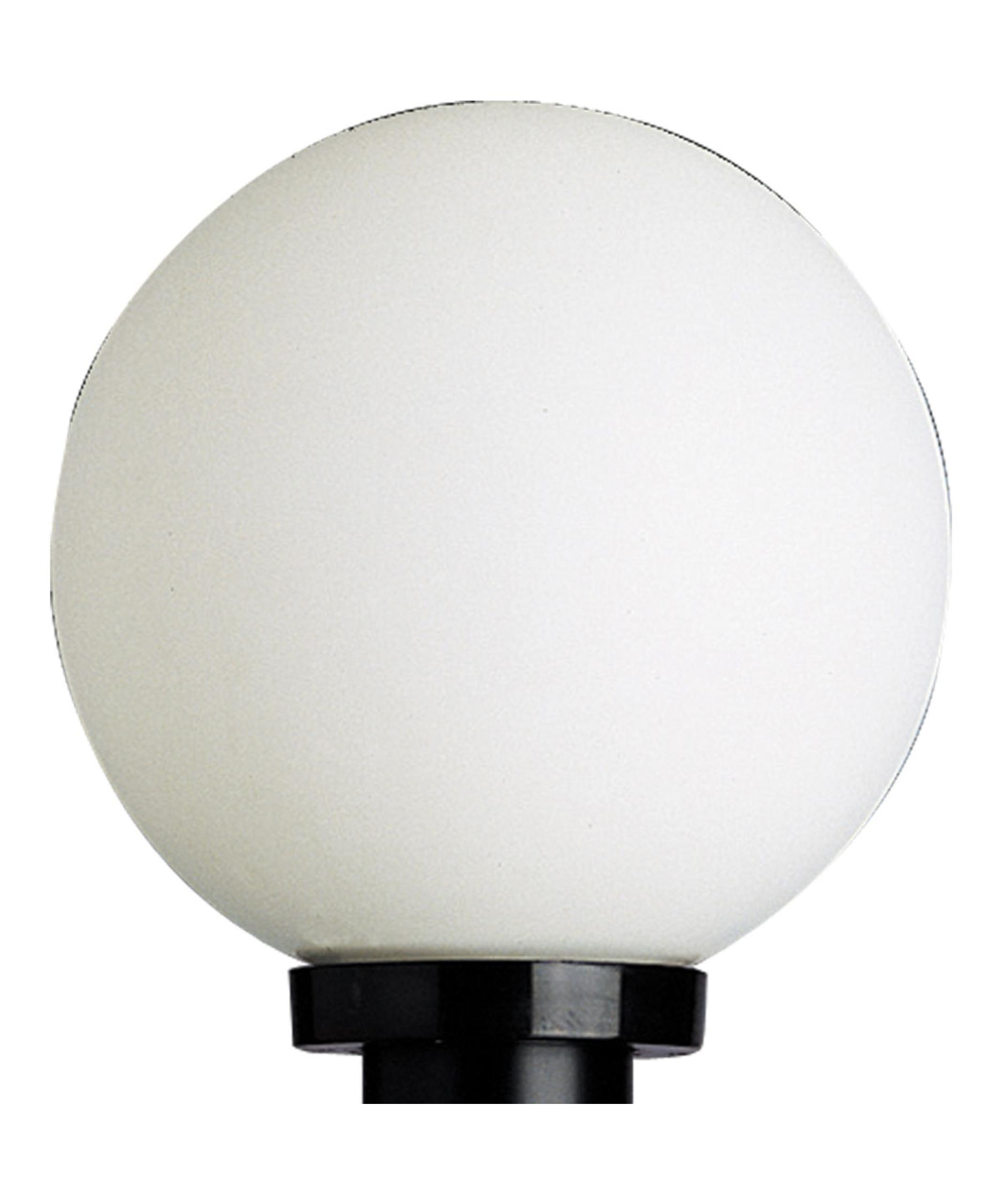 Shown in Black finish and White Acrylic glassProgress Lighting P5478 Globe 10 Inch Wide 1 Light Outdoor Post  . Outdoor Lamp Post Globes. Home Design Ideas
