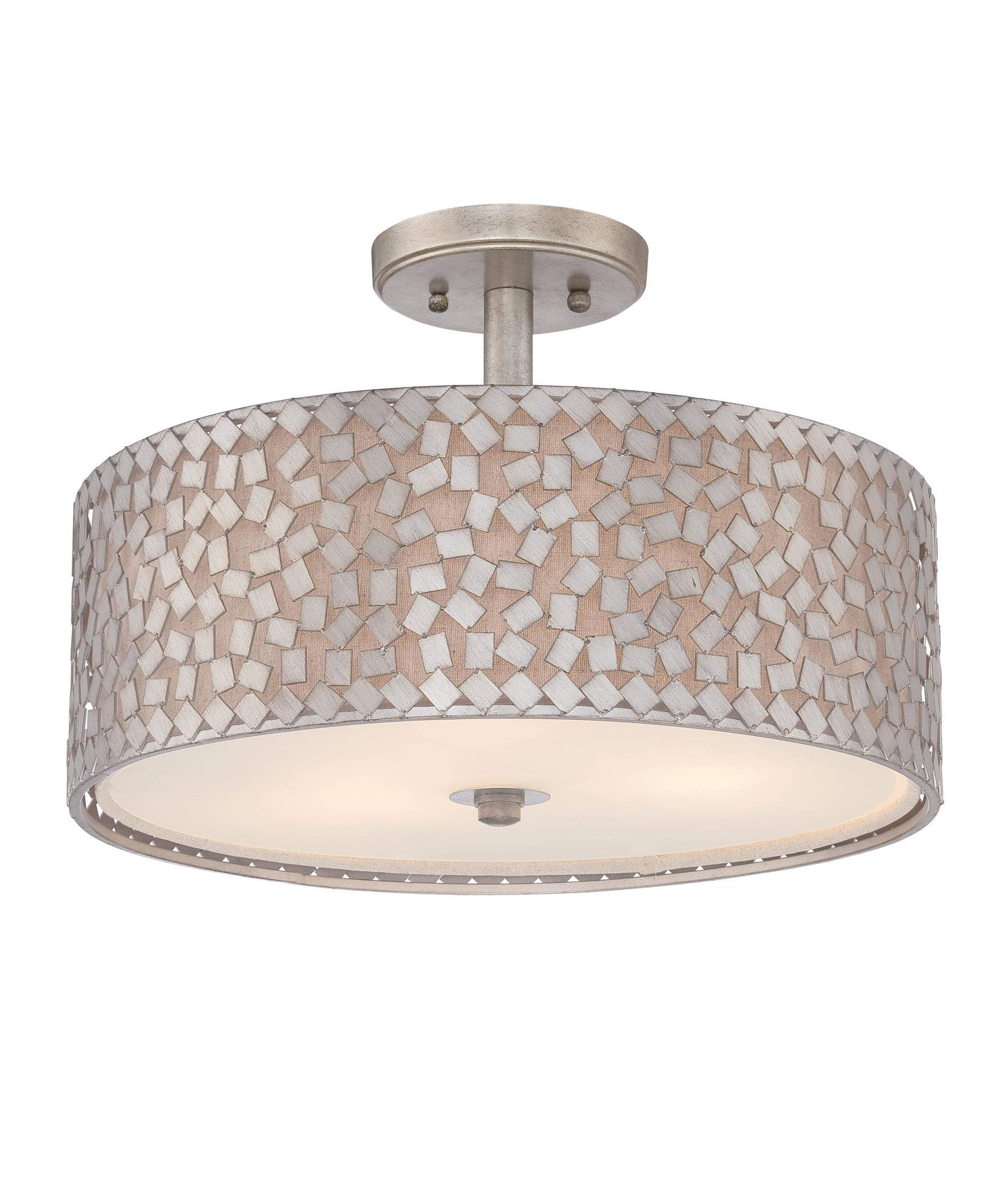 quoizel ckcf1717 confetti 17 inch wide semi flush mount capitol lighting - Semi Flush Mount Lighting