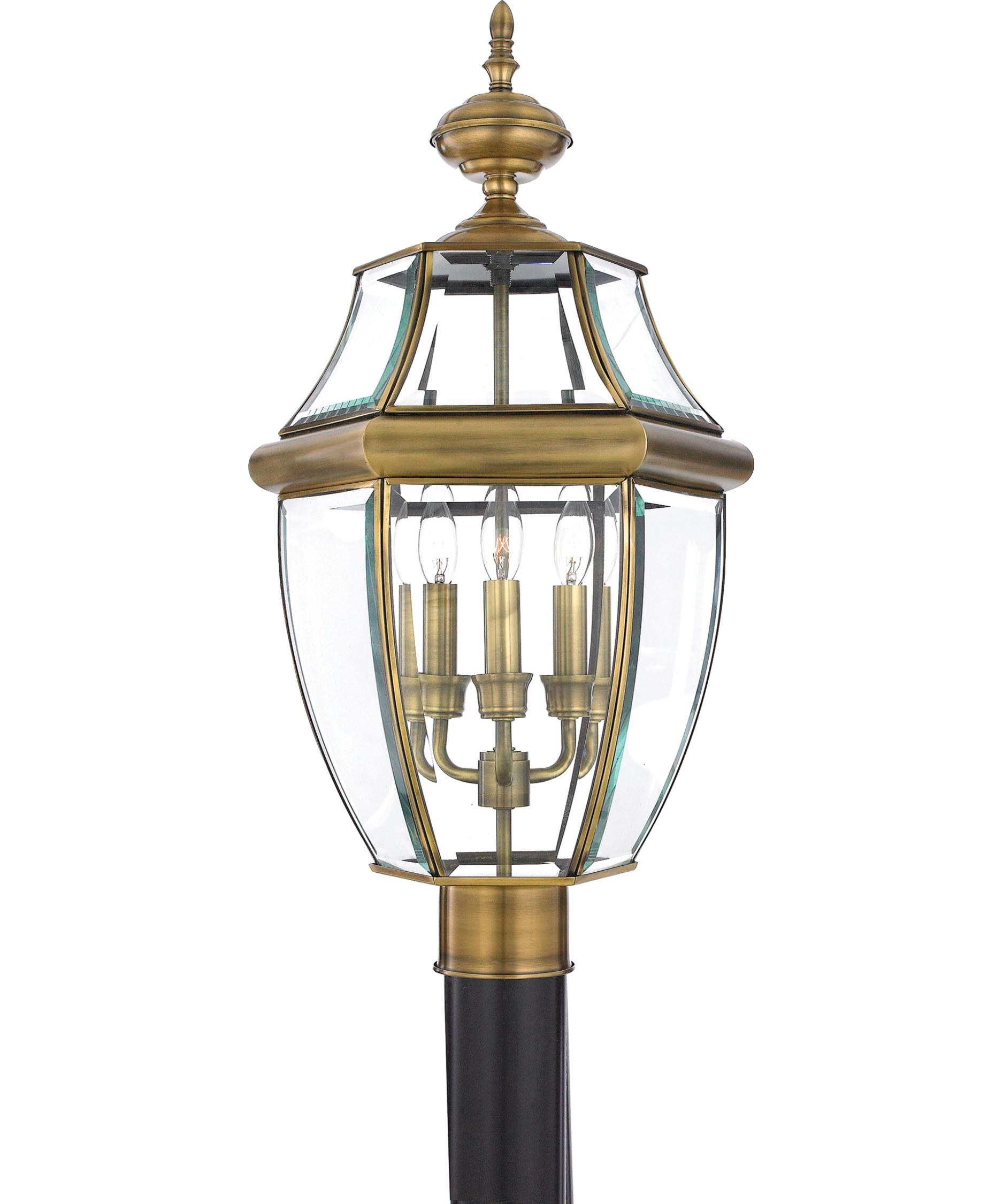 Outdoor Post Light Bulbs: Quoizel Newbury 3 Light Outdoor Post Lamp