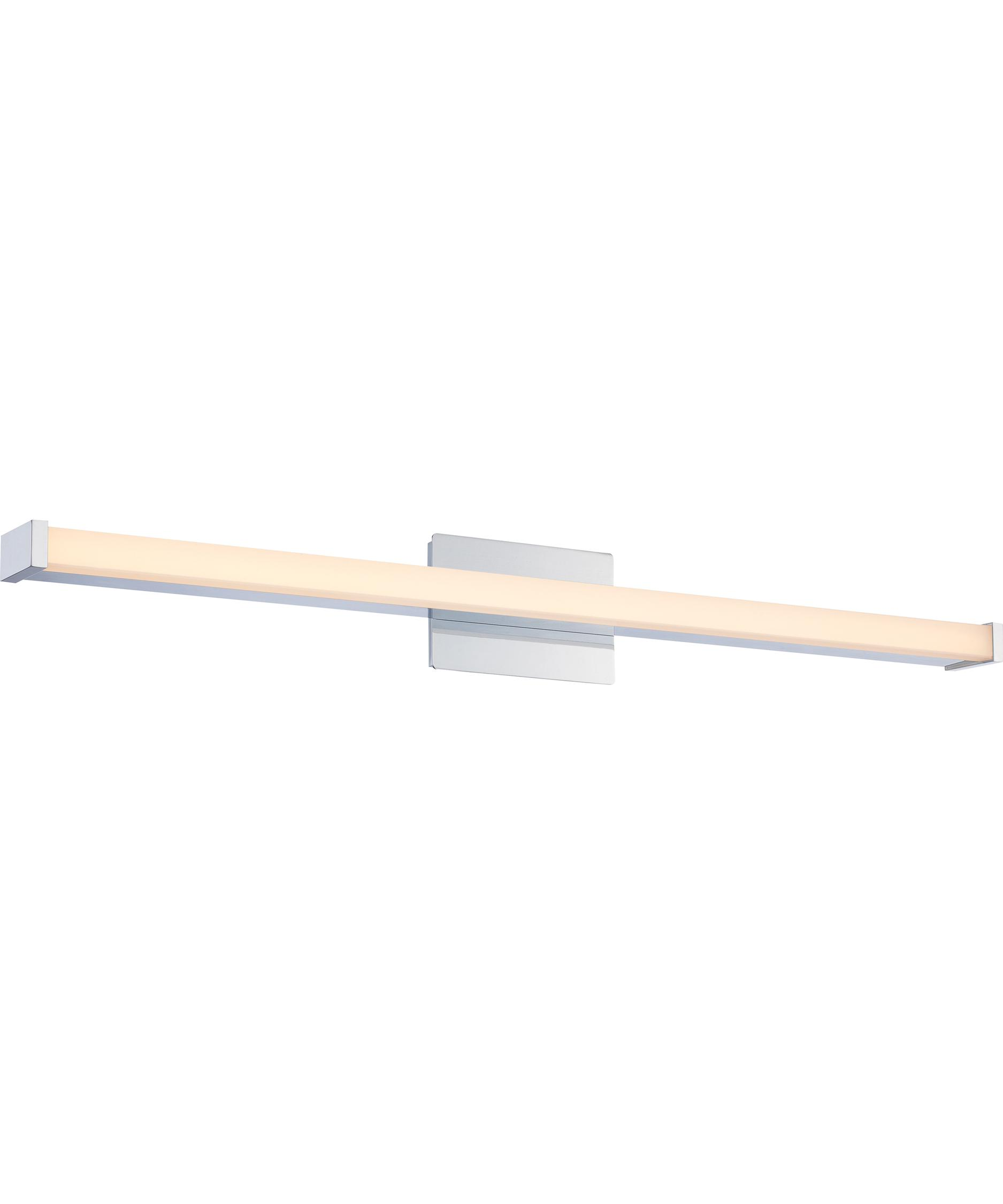 shown in polished chrome finish and opal etched glass - Quoizel Bathroom Lighting