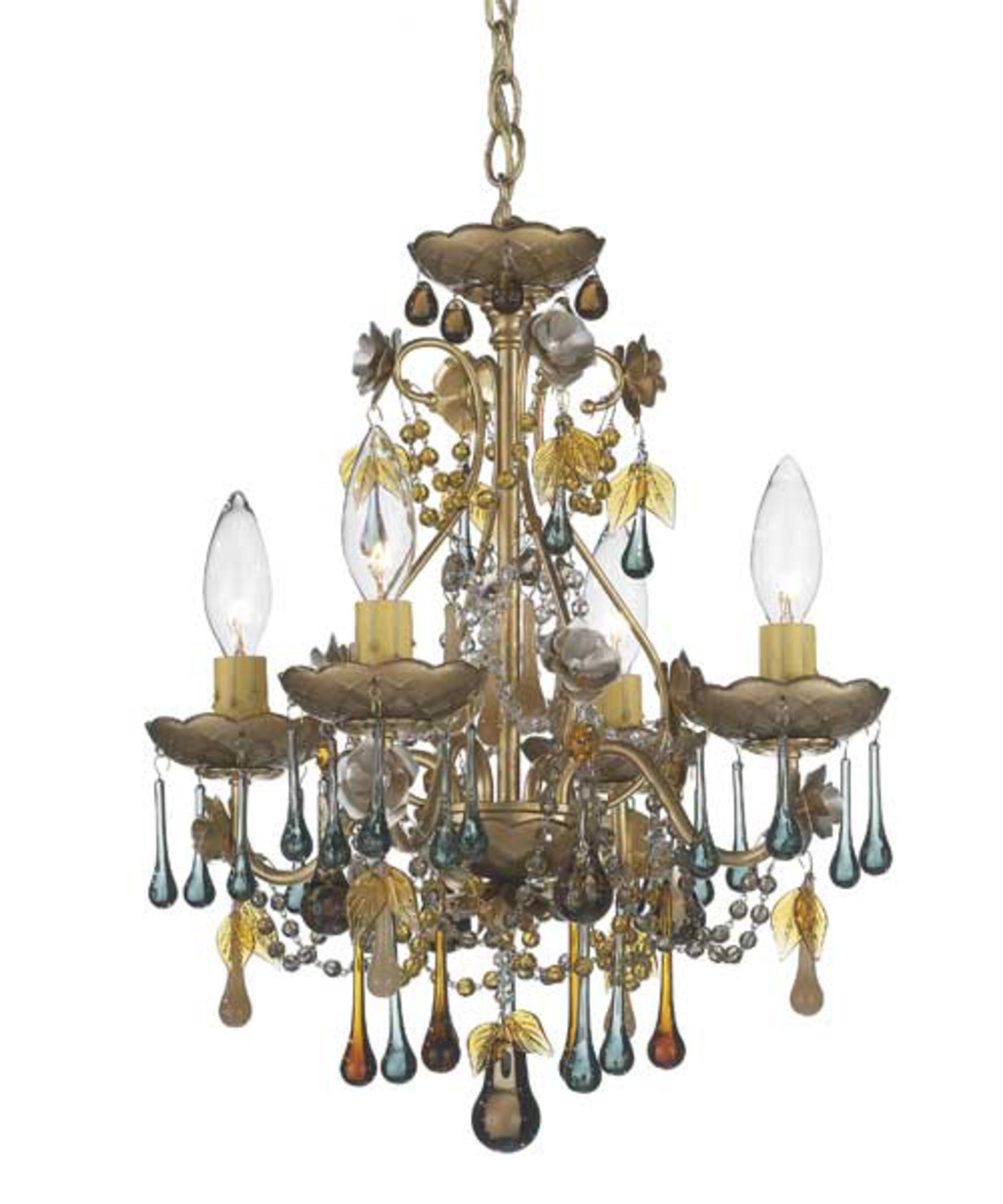 shown in heirloom gold finish and autumn crystal - Schonbek Lighting