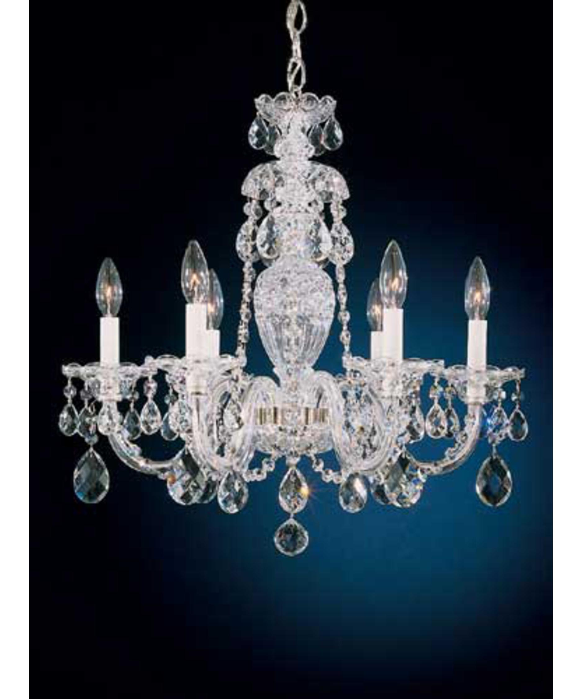 shown in silver finish and clear swarovski elements crystal - Schonbek Lighting