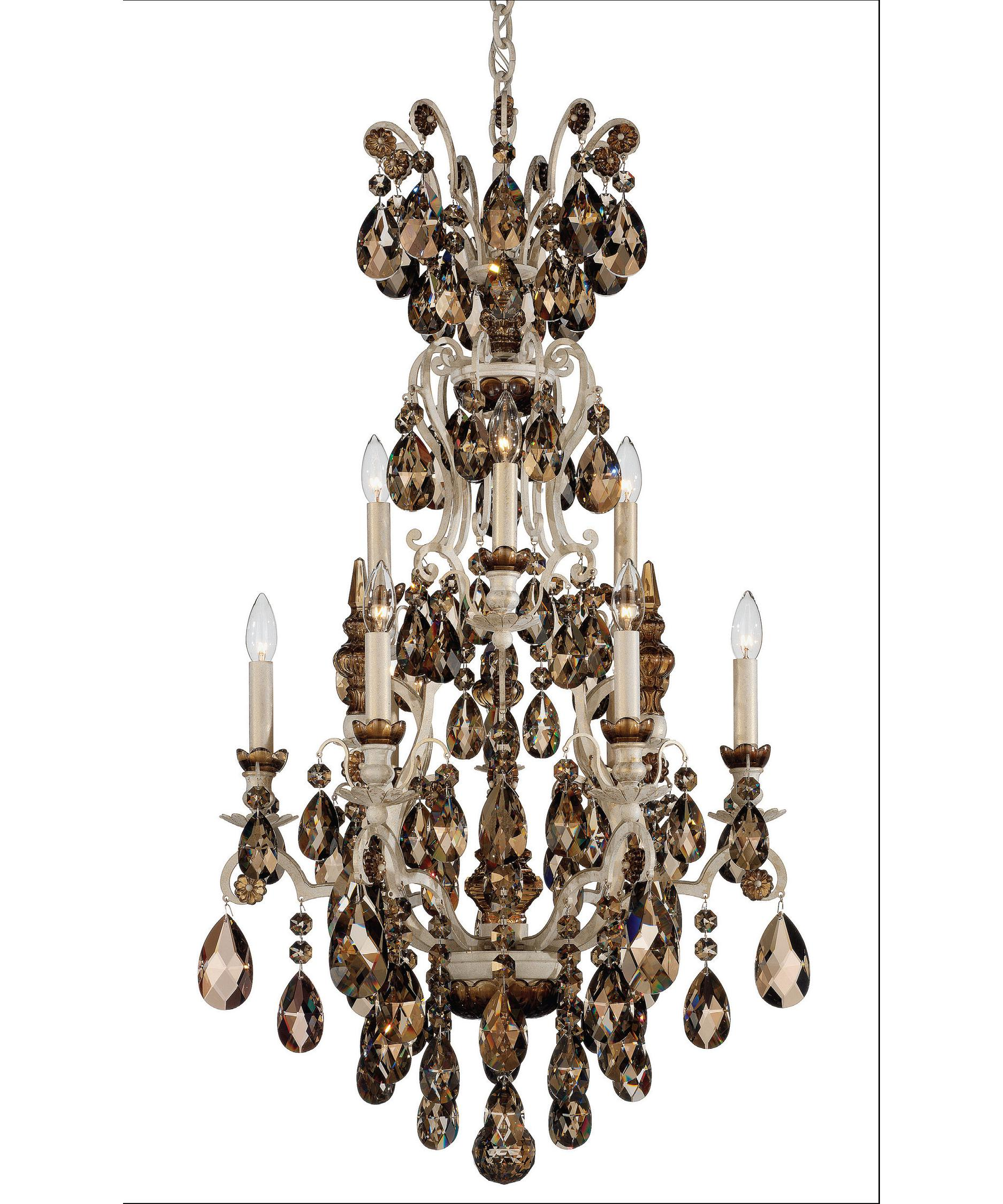 shown in french provincial finish with swarovski elements golden teak crystal - Schonbek Lighting