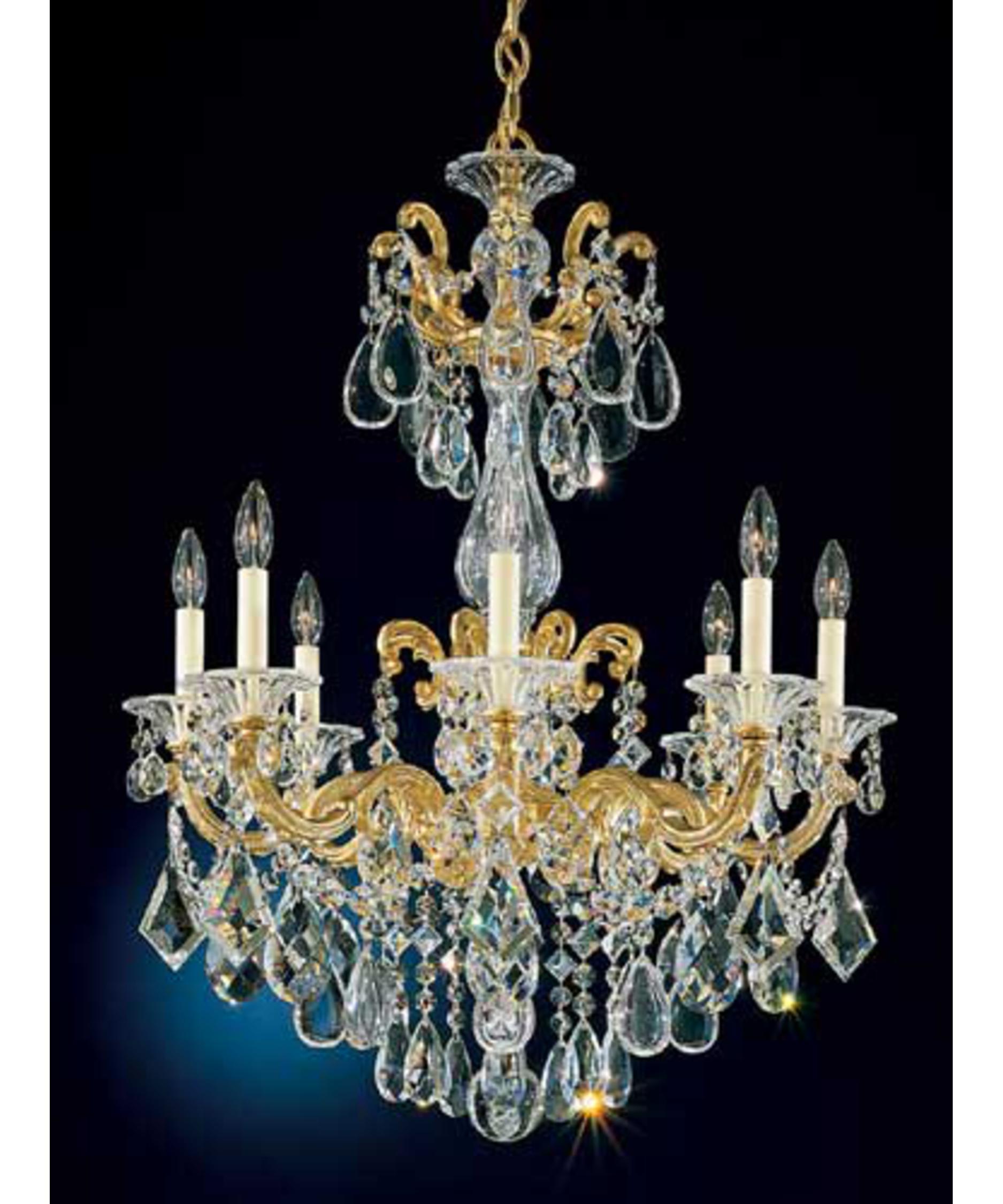 Schonbek La Scala 25 Inch Wide 8 Light Chandelier – La Scala Chandelier