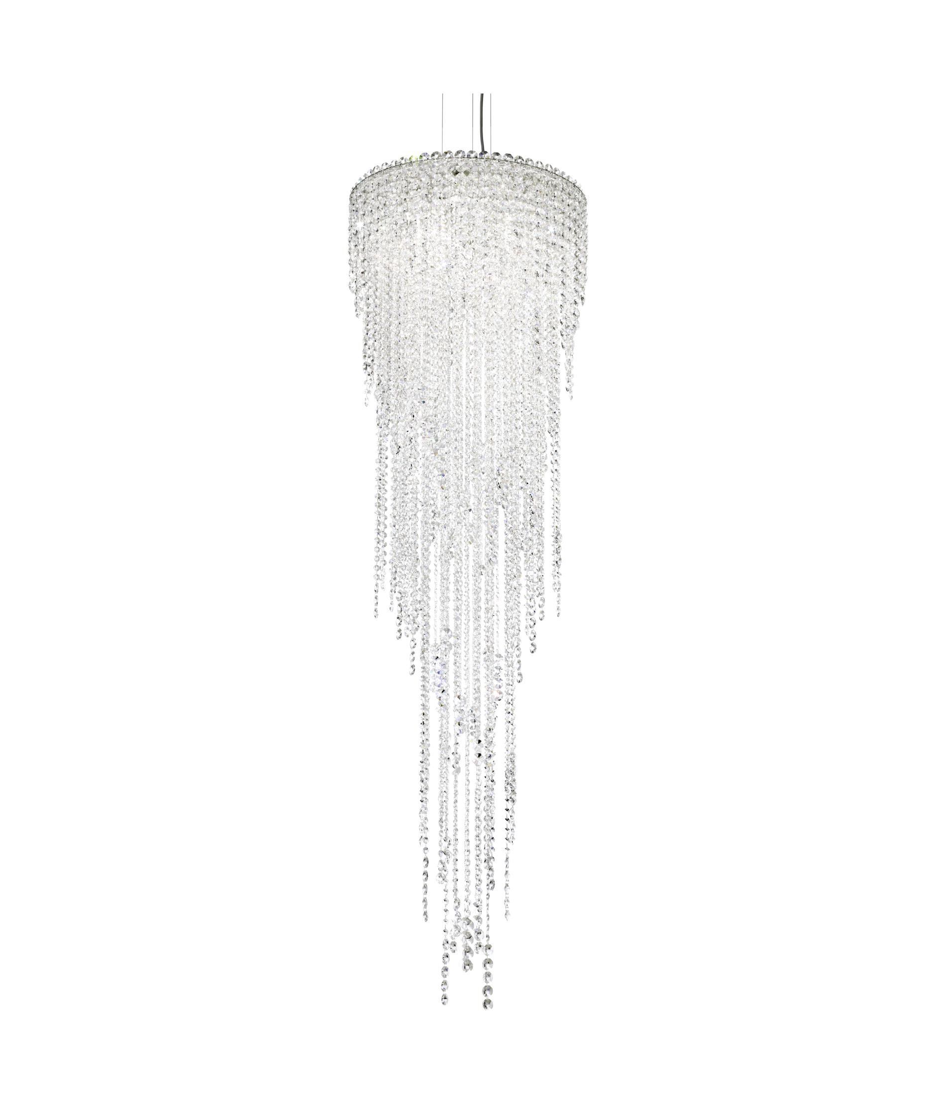 shown in stainless steel finish and clear swarovski spectra crystal - Schonbek Chandelier