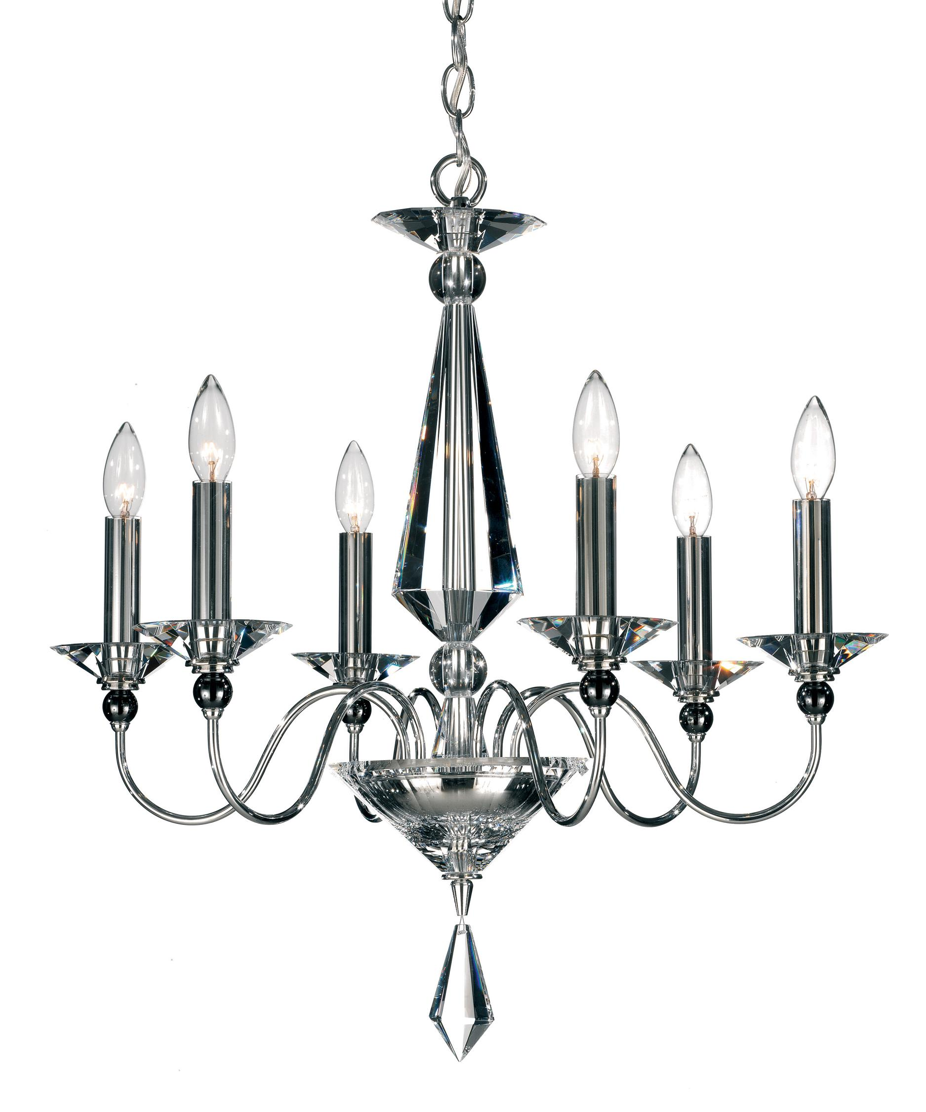 shown in silver finish and clear crystal - Schonbek Lighting