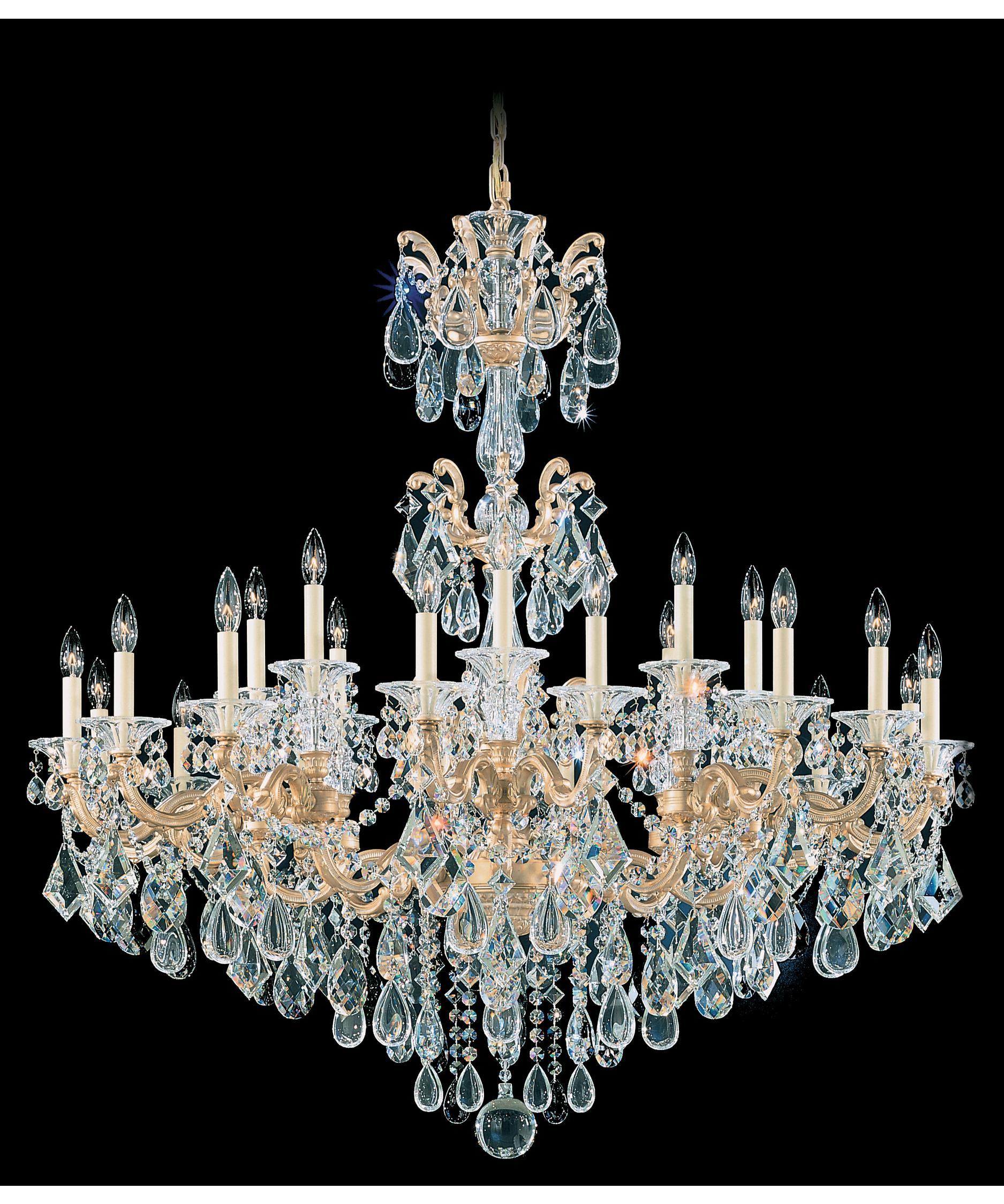 Schonbek La Scala 46 Inch Wide 24 Light Chandelier – La Scala Chandelier