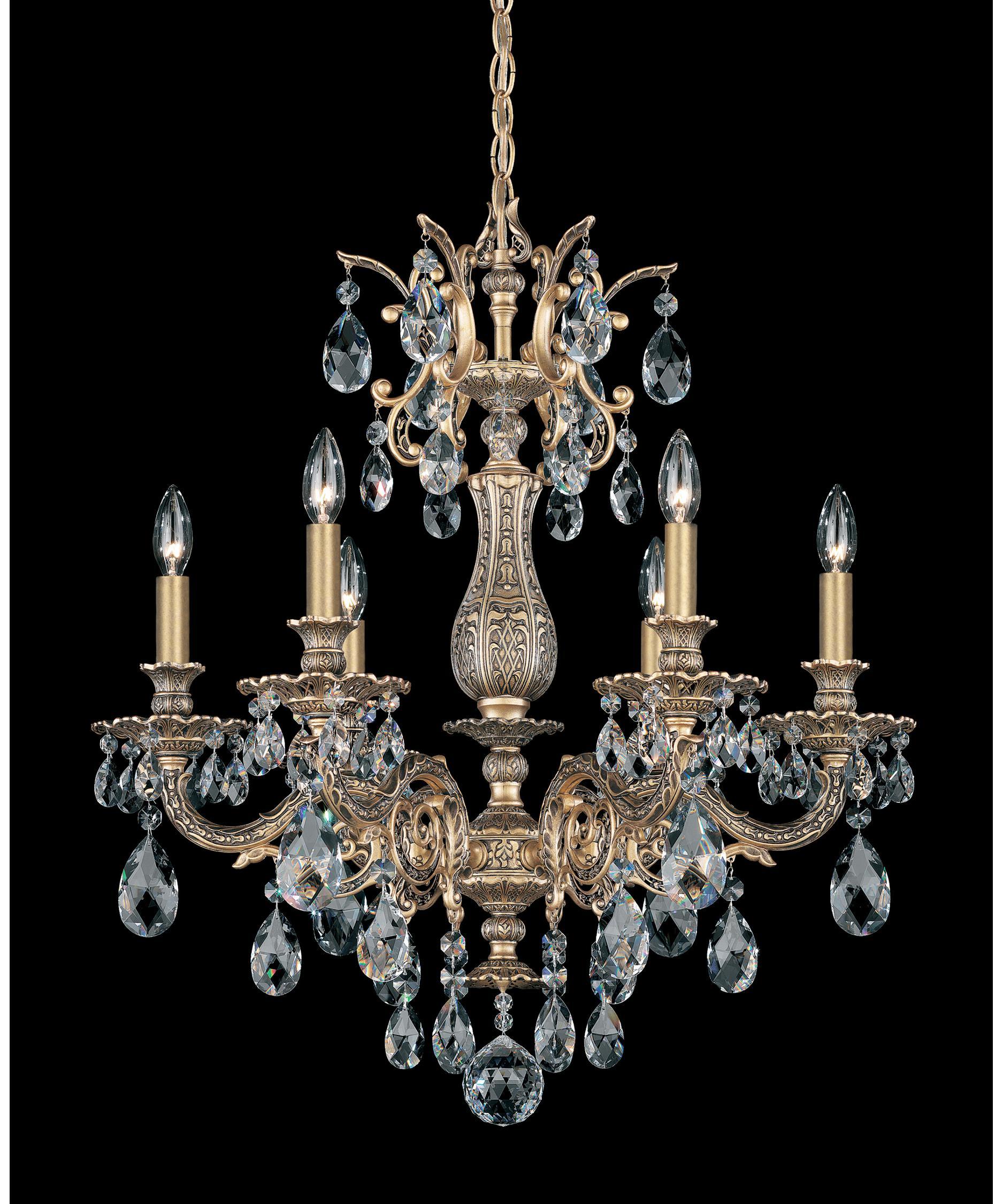 Schonbek 5676 Milano 24 Inch Wide 6 Light Chandelier Capitol