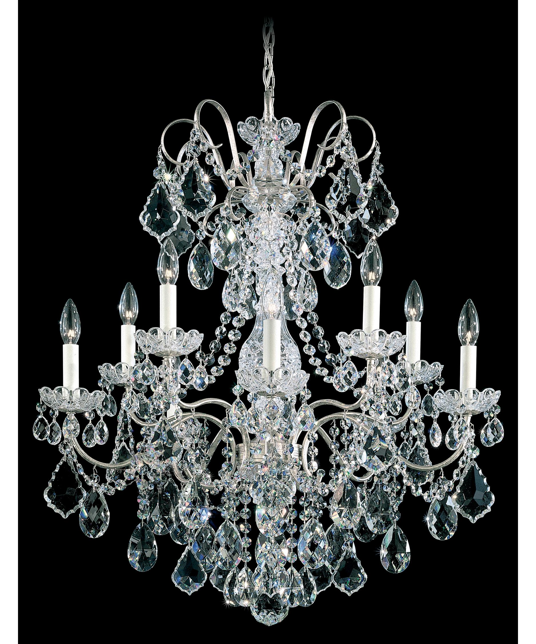 schonbek new orleans 28 inch wide 10 light chandelier capitol lighting - Schonbek Lighting