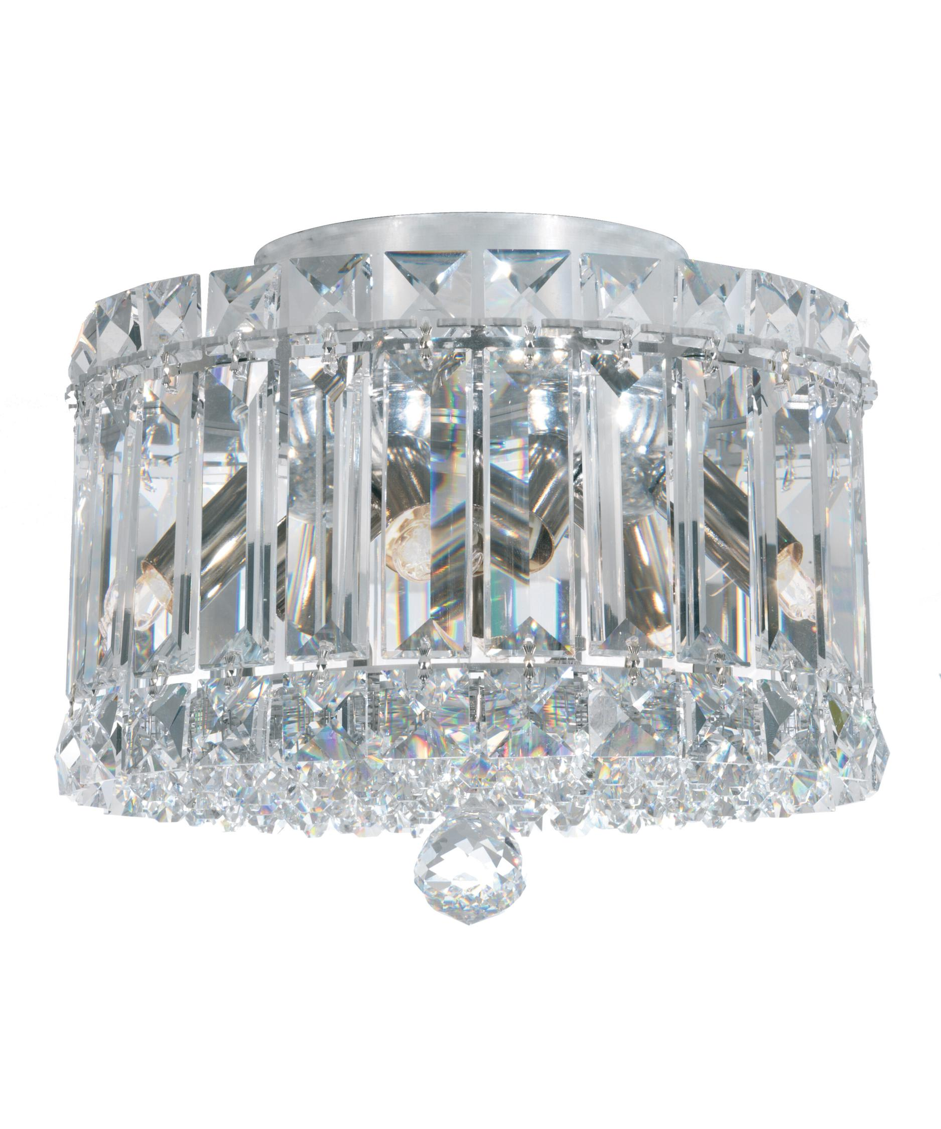 schonbek plaza 8 inch wide flush mount capitol lighting - Schonbek Lighting