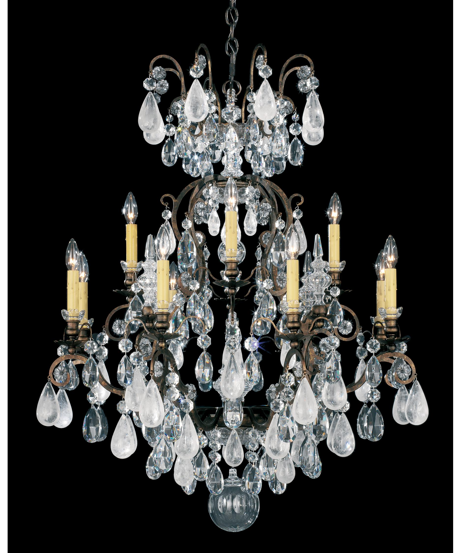 Schonbek Renaissance Rock Crystal 32 Inch Wide 12 Light Chandelier – Rock Crystal Chandelier