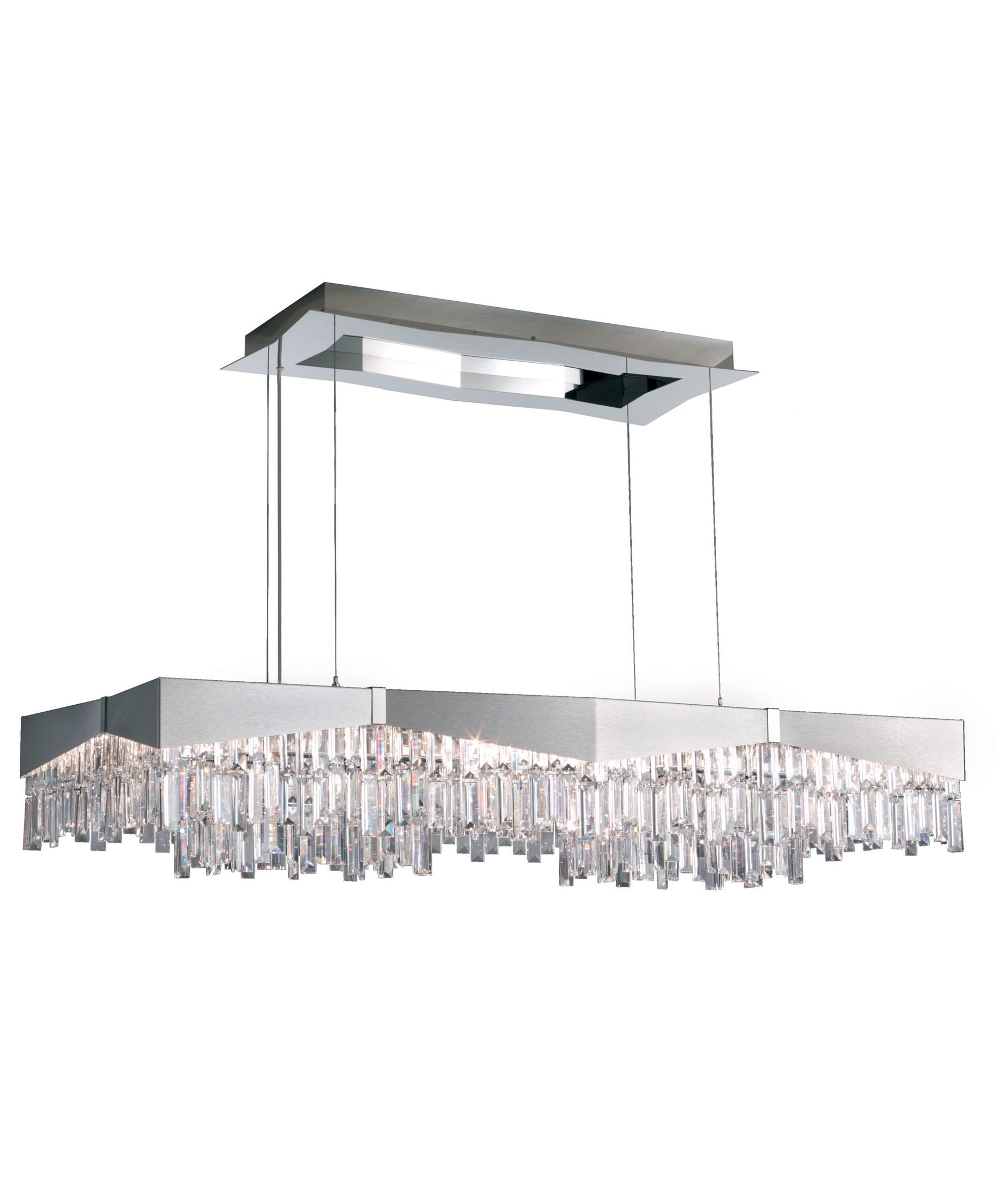 shown in brushed stainless steel finish and clear swarovski spectra crystal - Schonbek Lighting