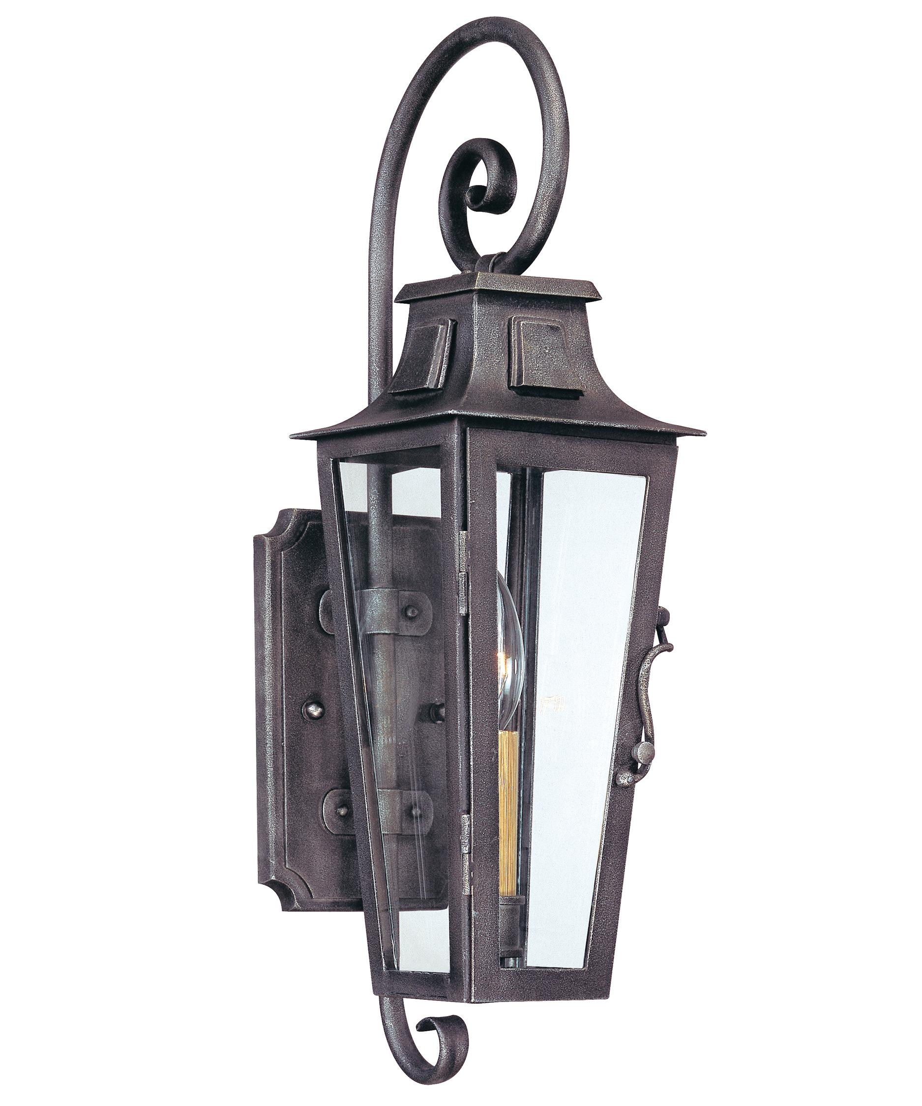 french outdoor lighting. shown in aged pewter finish and clear seedy glass french outdoor lighting c