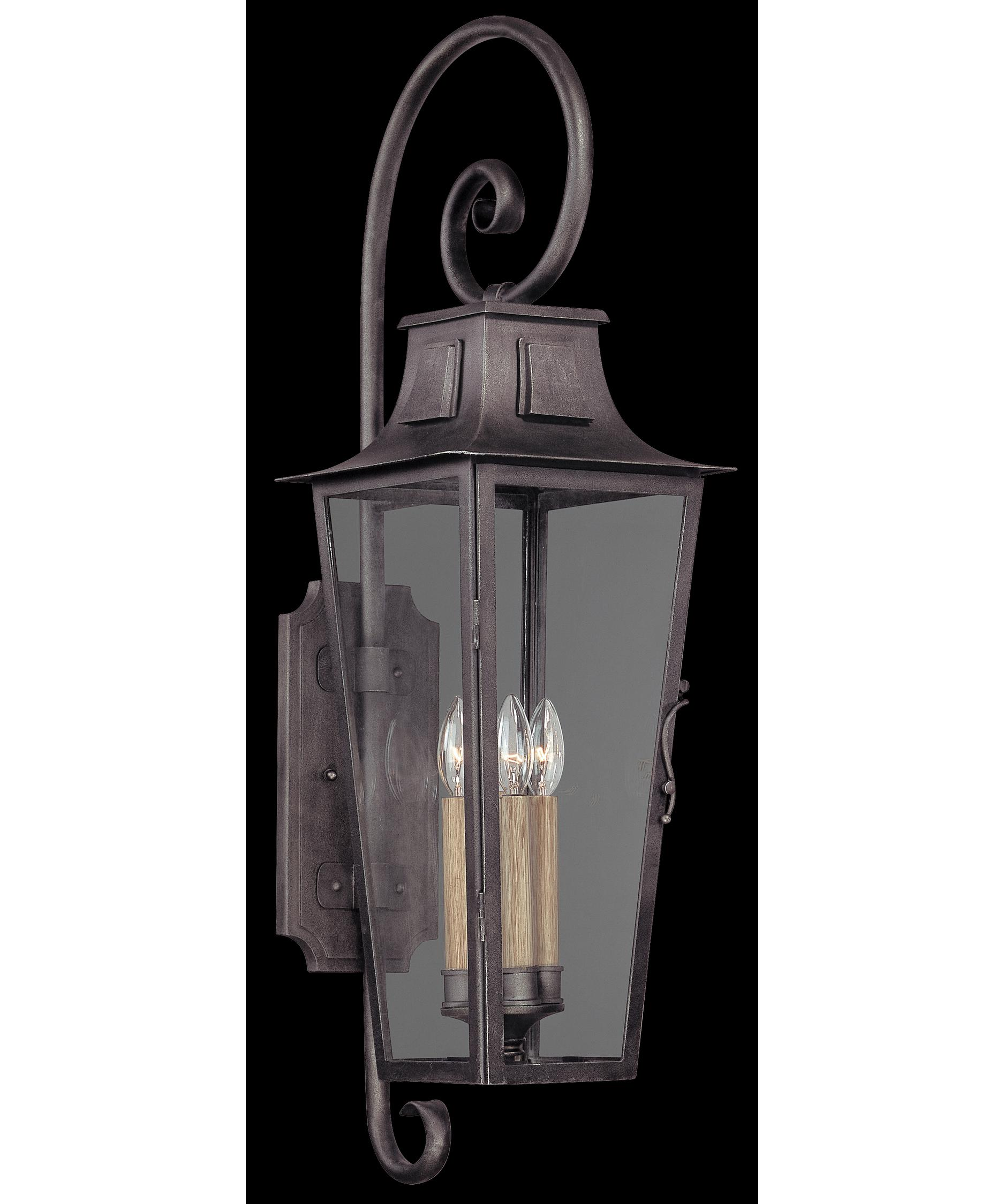 french outdoor lighting. shown in aged pewter finish and clear seedy glass french outdoor lighting r