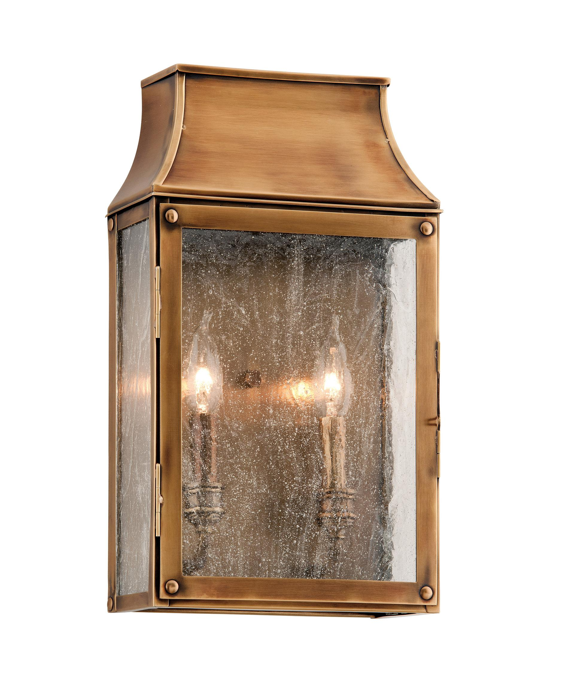 Shown In Heirloom Brass Finish And Clear Seeded Glass