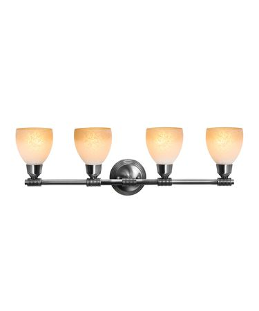 Shown in Brushed Steel finish and French Amber glass