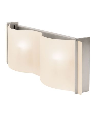 Shown in Brushed Steel finish and Frosted glass