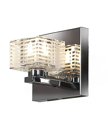 Shown in Chrome finish and Clear-Frosted glass