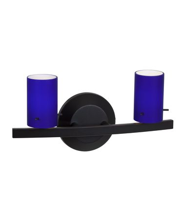 Shown in Oil Rubbed Bronze finish and Cobalt Blue glass