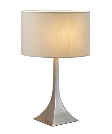 Shown in Steel finish and White shade