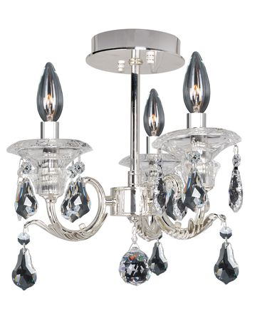 Shown in Silver finish and Firenze Clear crystal