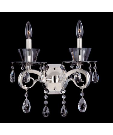 Shown in Two-Rone Silver finish and Firenze Clear crystal