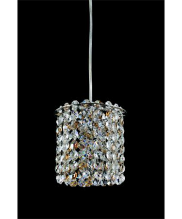 Shown in Polished Chrome finish and Firenze Clear with Dark Sapphire Accents crystal
