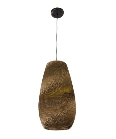 Shown in Black finish and Recycled Cardboard shade