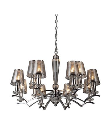 Shown in Chrome finish and Mesh Metal Chrome shade