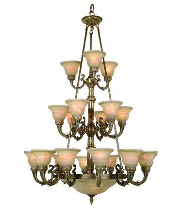 Shown in Antique Brass finish and Iltalian Light Cream glass