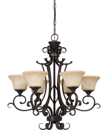 Shown in Oil Rubbed Bronze finish and Amber glass